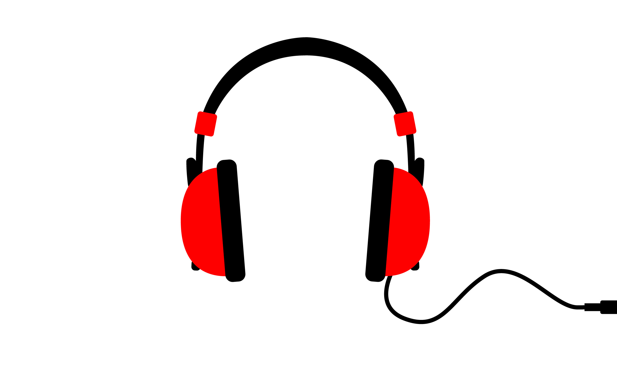 headphones minimalistic Music simple HD Wallpaper