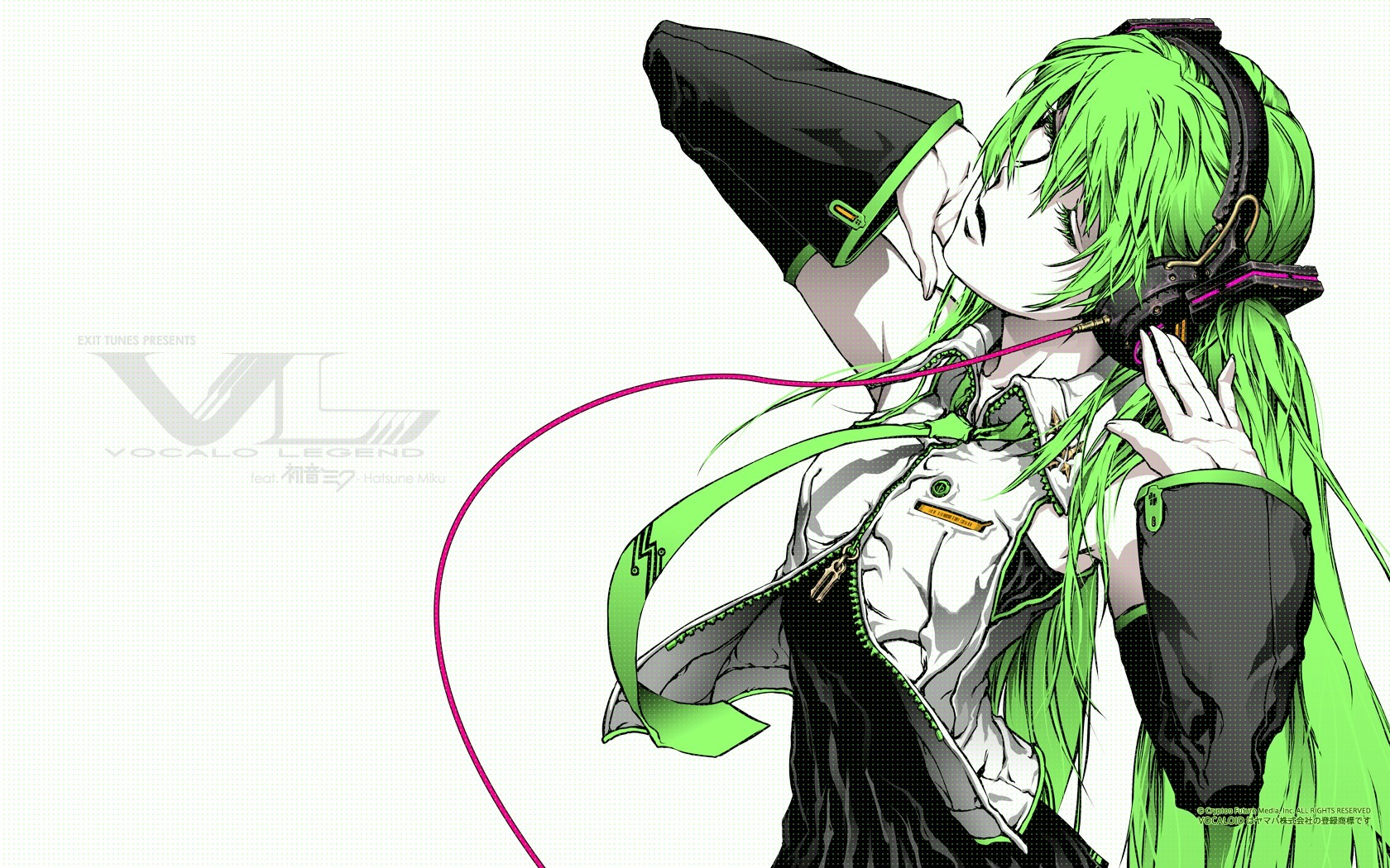 headphones Music vocaloid hatsune HD Wallpaper