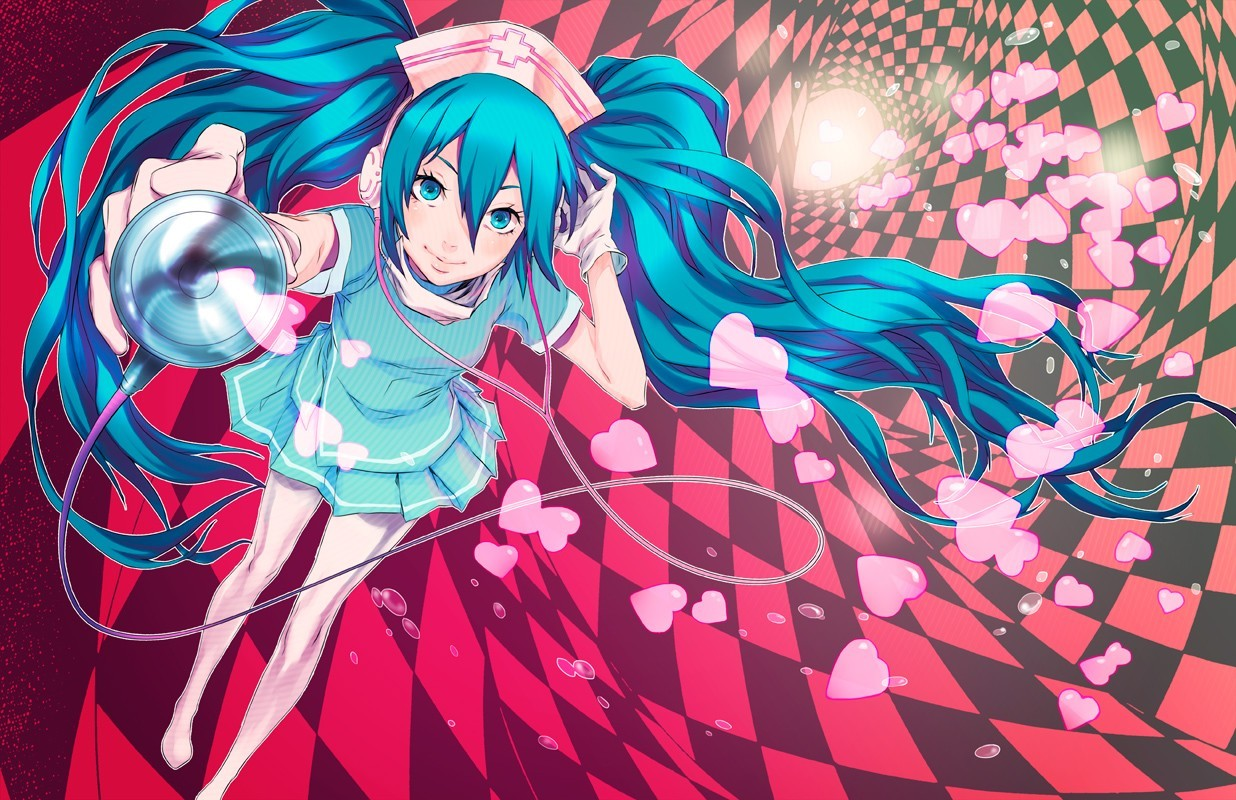 headphones vocaloid gloves hatsune HD Wallpaper