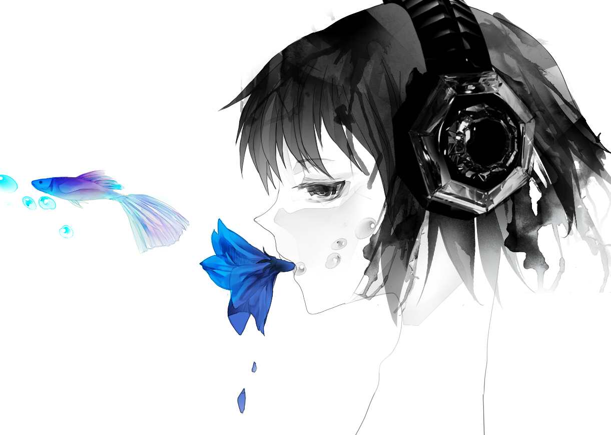 headphones vocaloid Megpoid Gumi HD Wallpaper