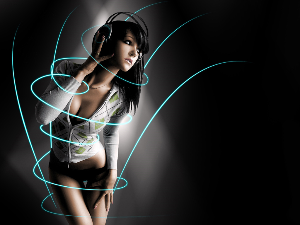 Wallpaper Girl on Headphone Girl Hd Wallpaper   Girls   366852
