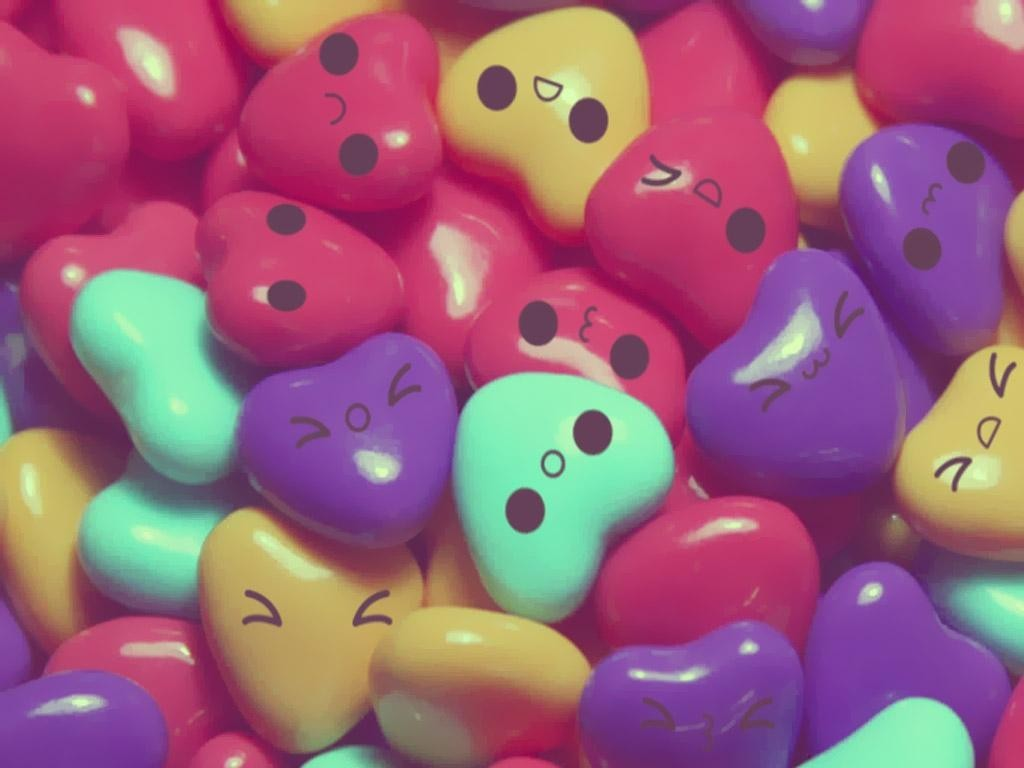 Hearts Candies cakes HD Wallpaper