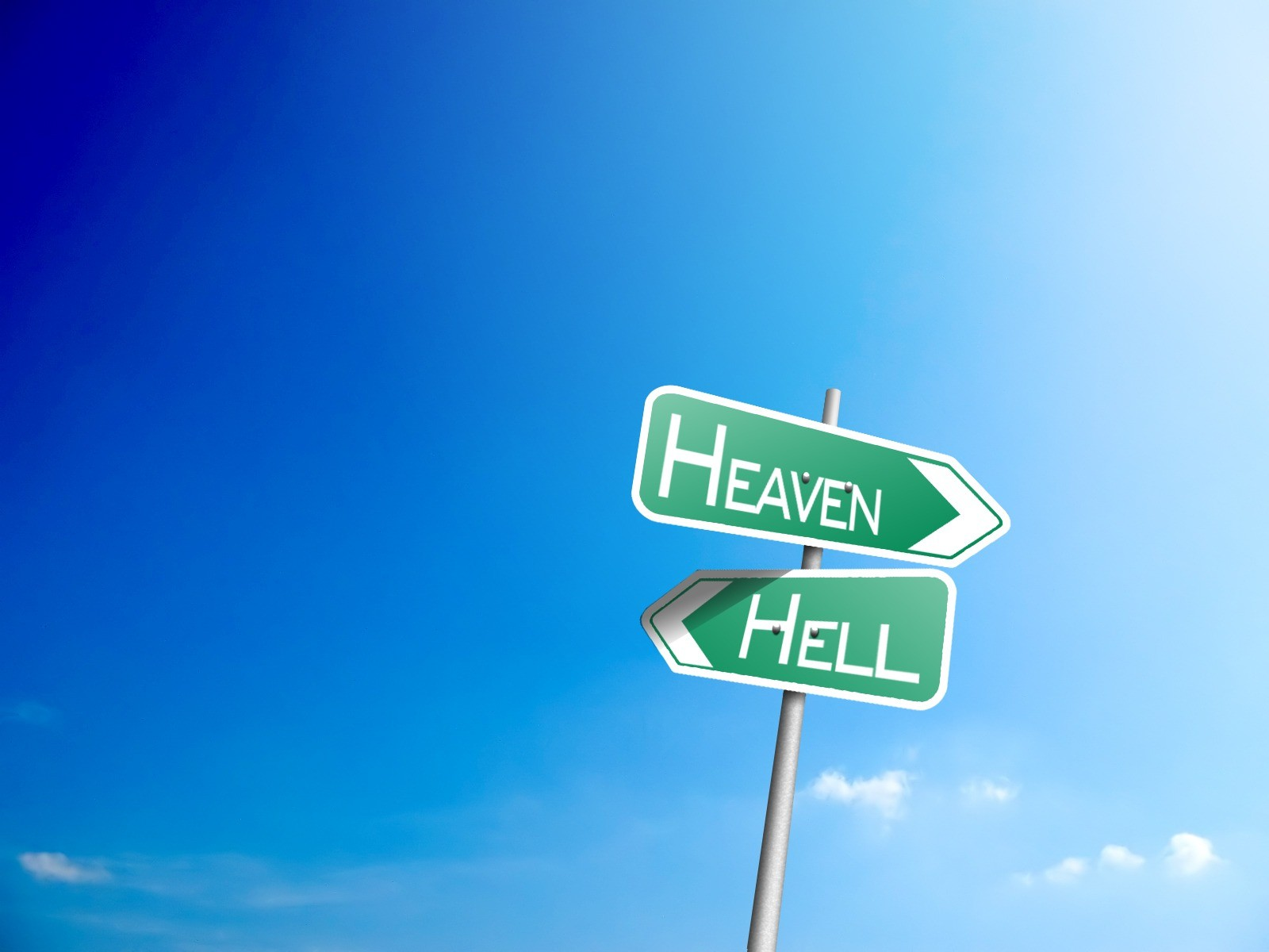 heaven hell signs abstract