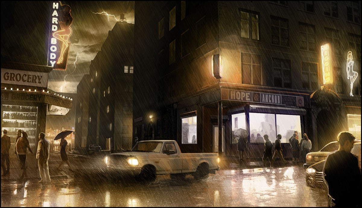 heavy rain HD Wallpaper