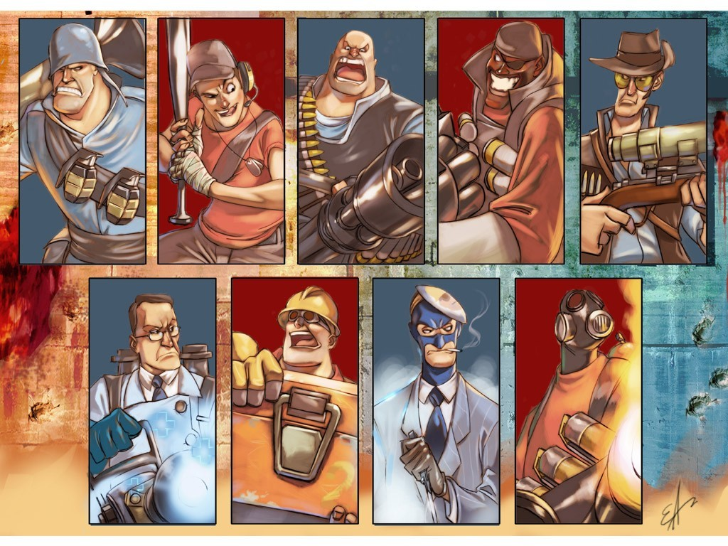Heavy TF2 Engineer TF2 HD Wallpaper