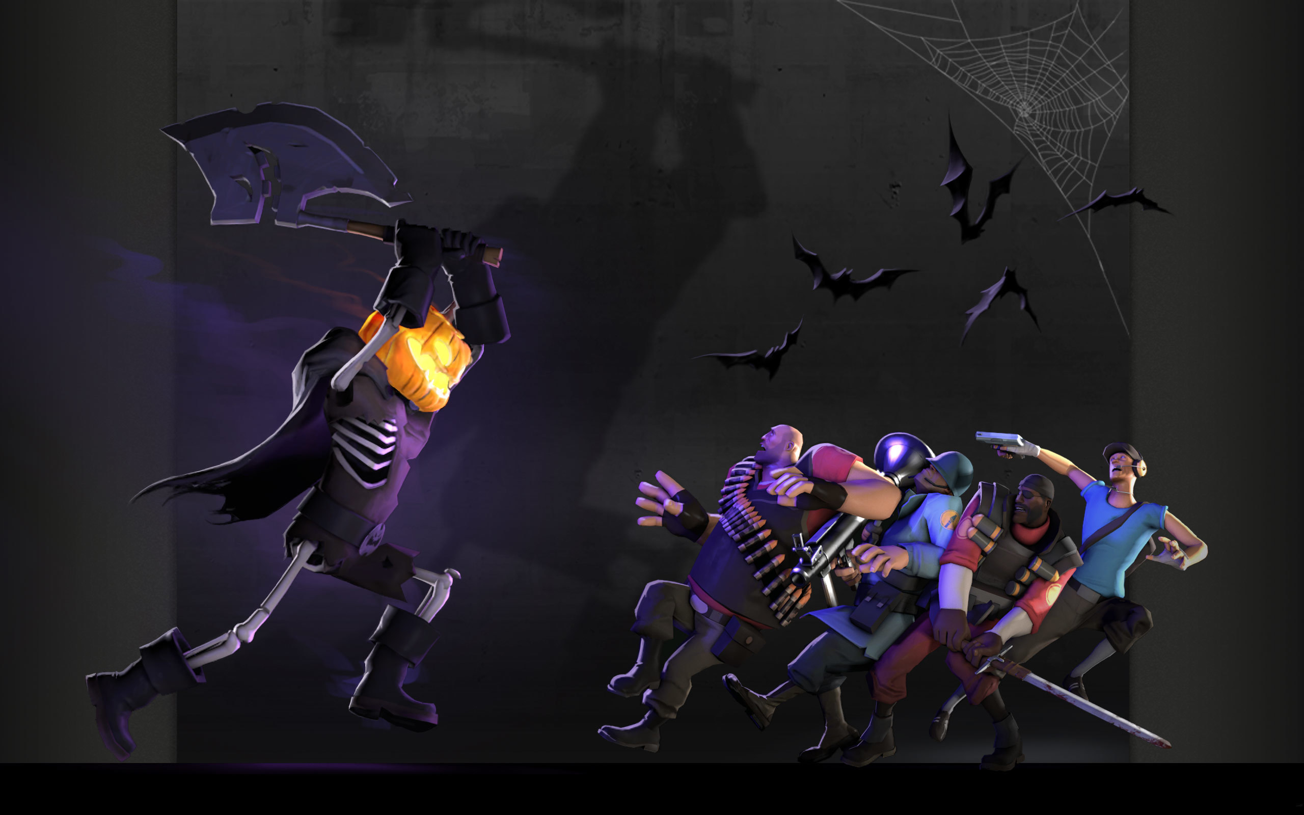 Heavy TF2 Halloween Scout HD Wallpaper