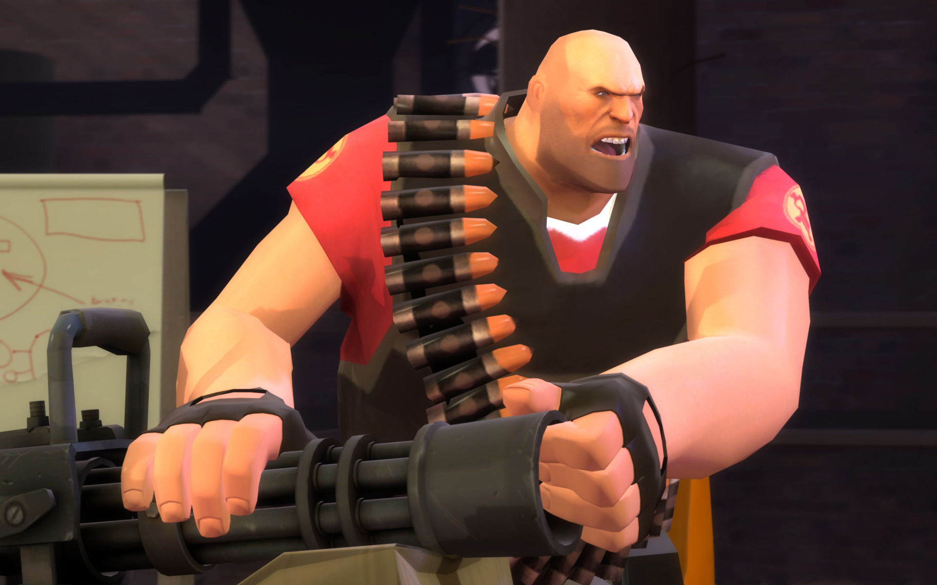 heavy weapons guy gun HD Wallpaper