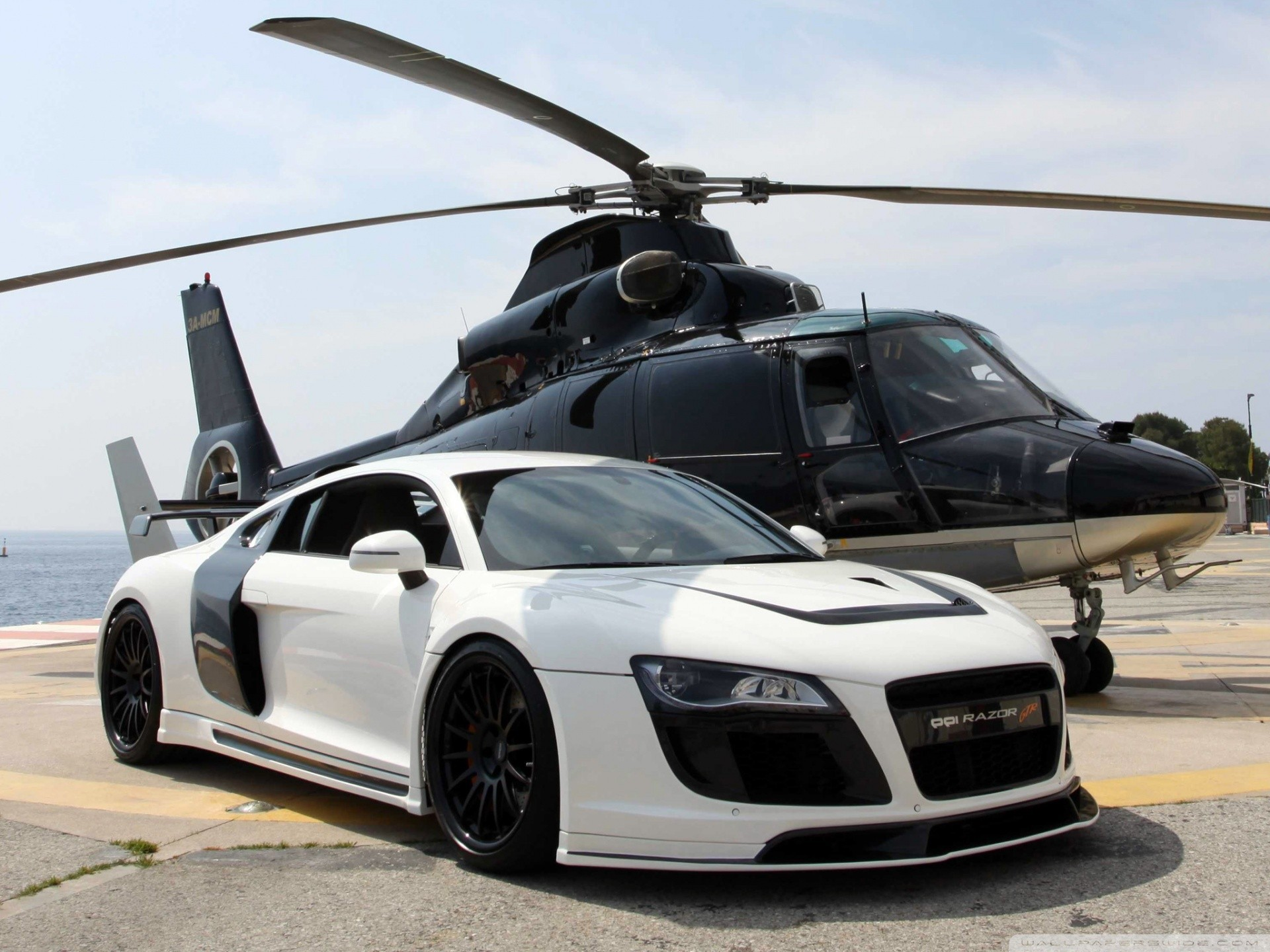 Helicopters cars vehicles audi HD Wallpaper