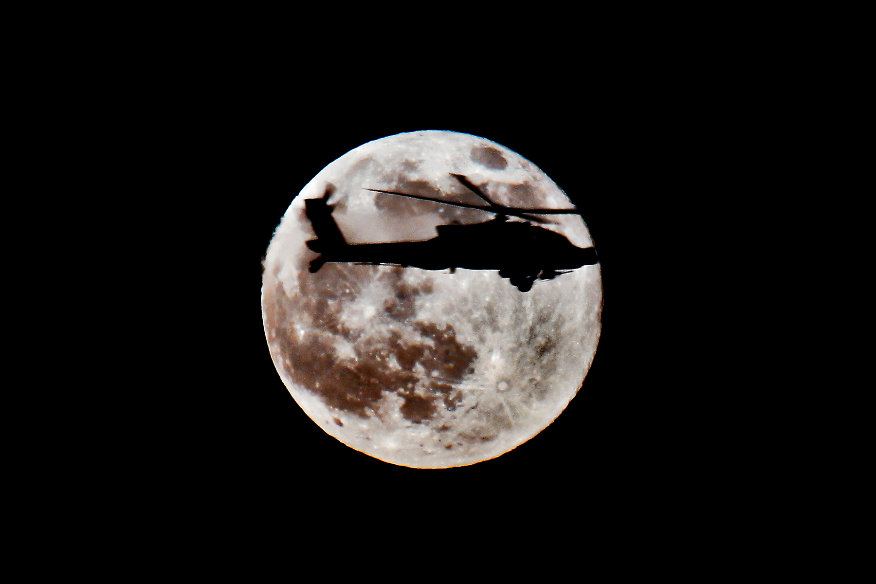 Helicopters moon silhouettes vehicles HD Wallpaper