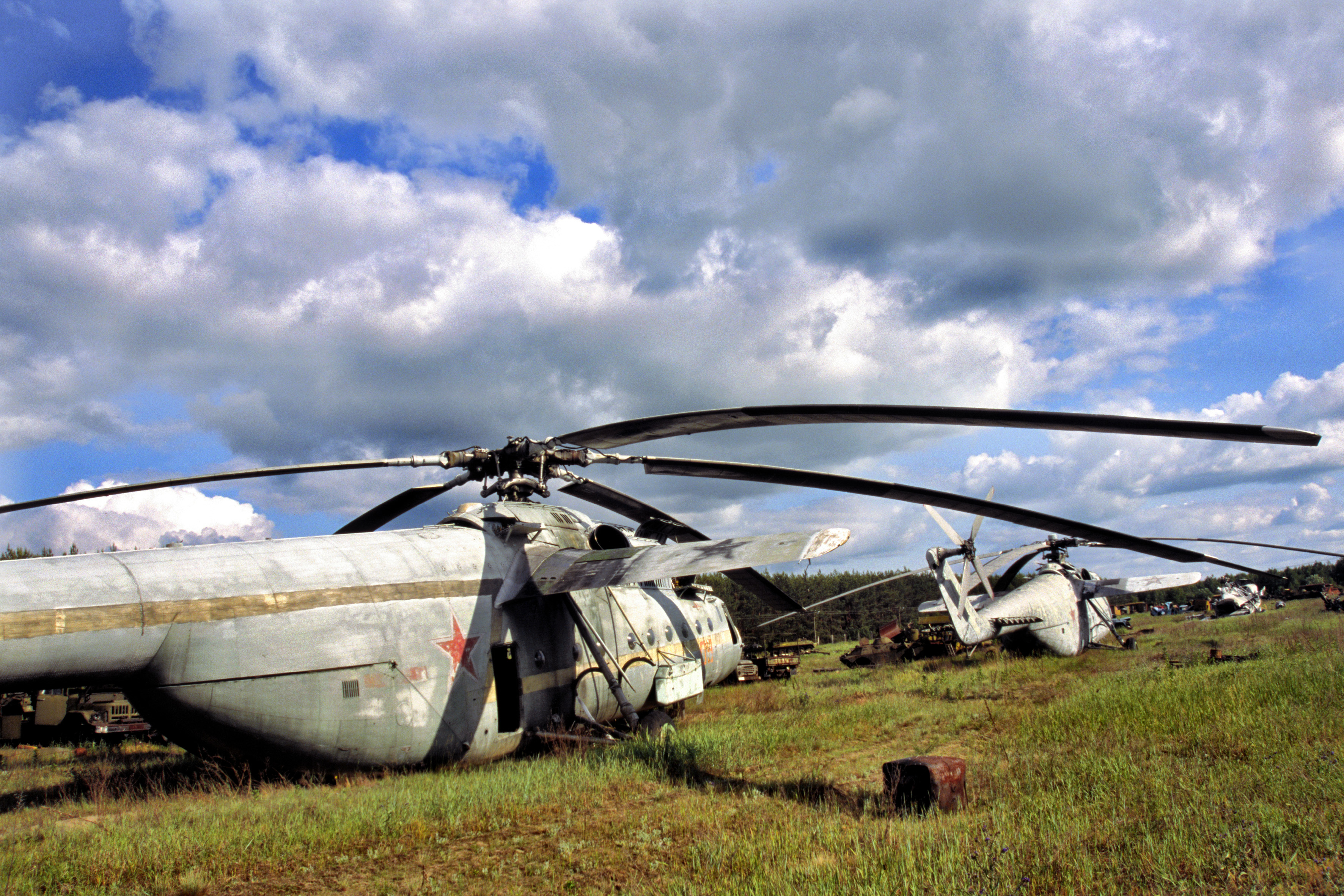 Helicopters Pripyat Chernobyl vehicles HD Wallpaper