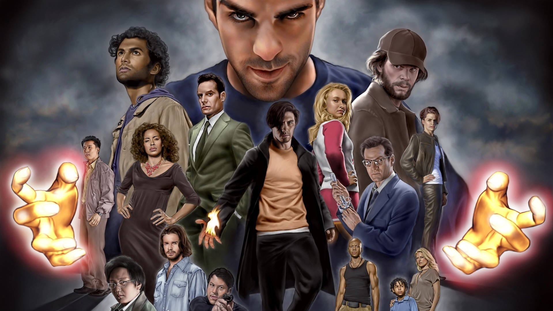 Heroes (TV Series) cartoonish HD Wallpaper