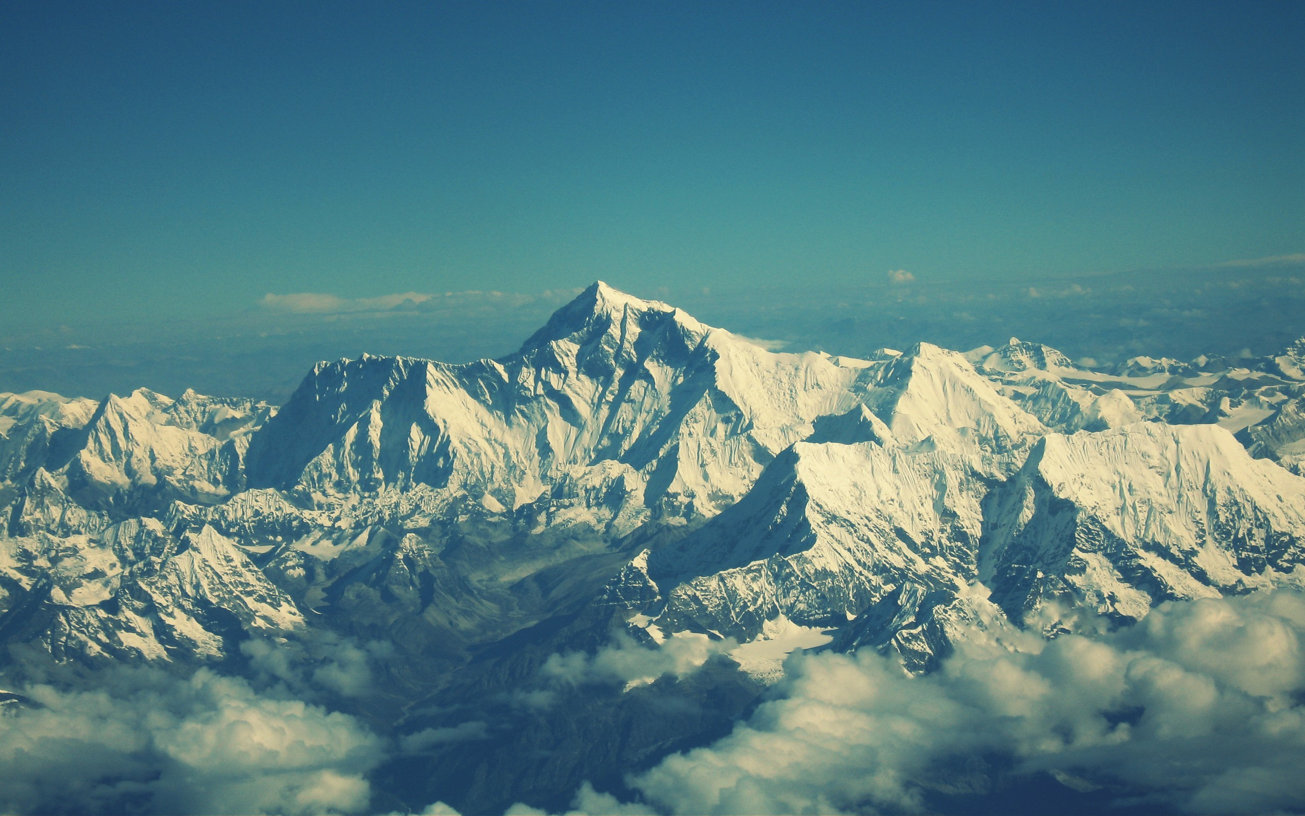 Himalaya Mount Everest Mountains HD Wallpaper