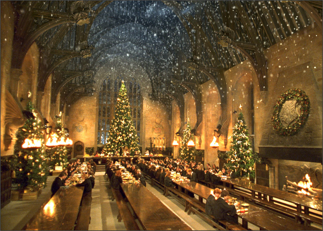 harry potter christmas trees hogwarts HD Wallpaper