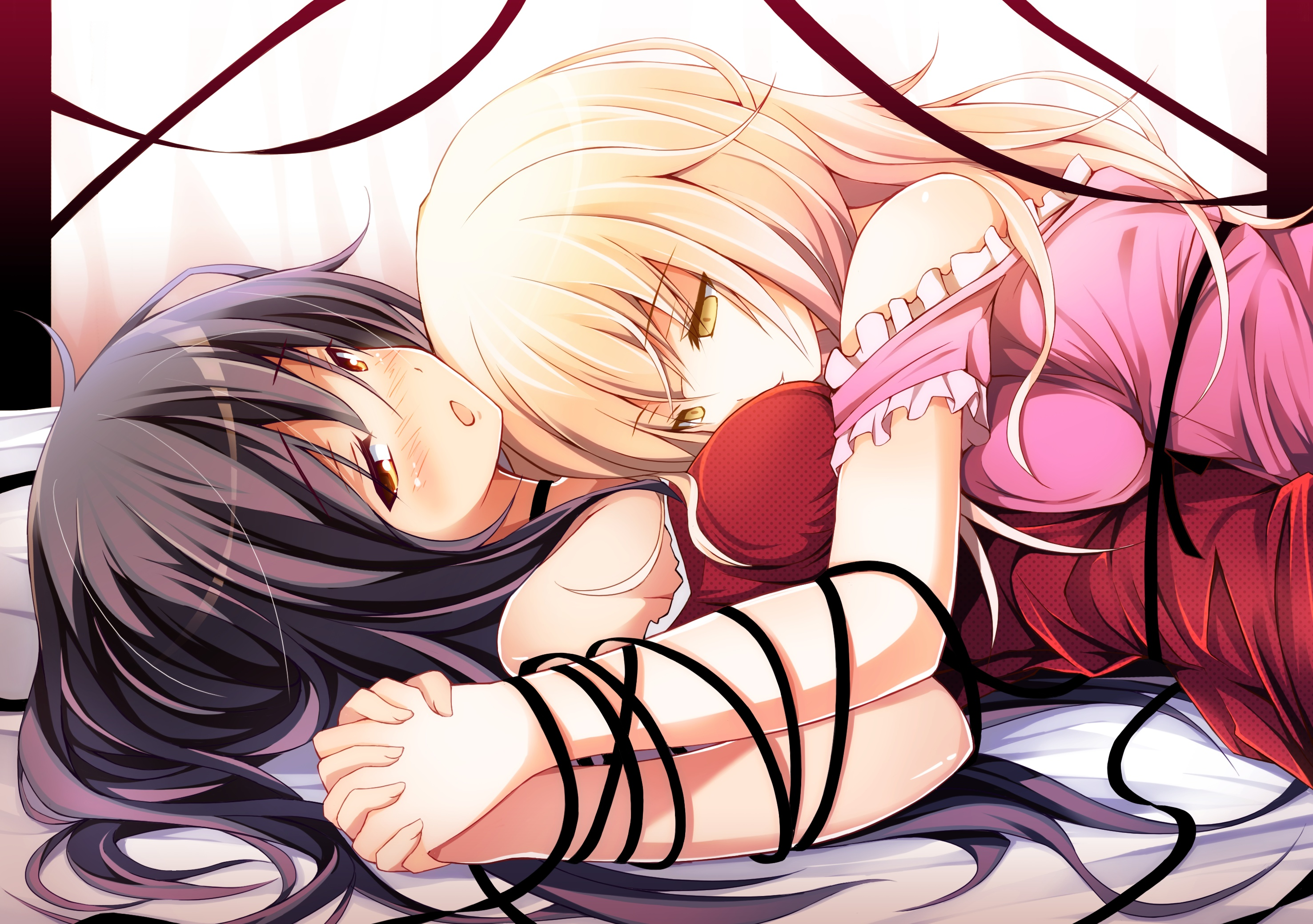 holding hands Ribbons long HD Wallpaper