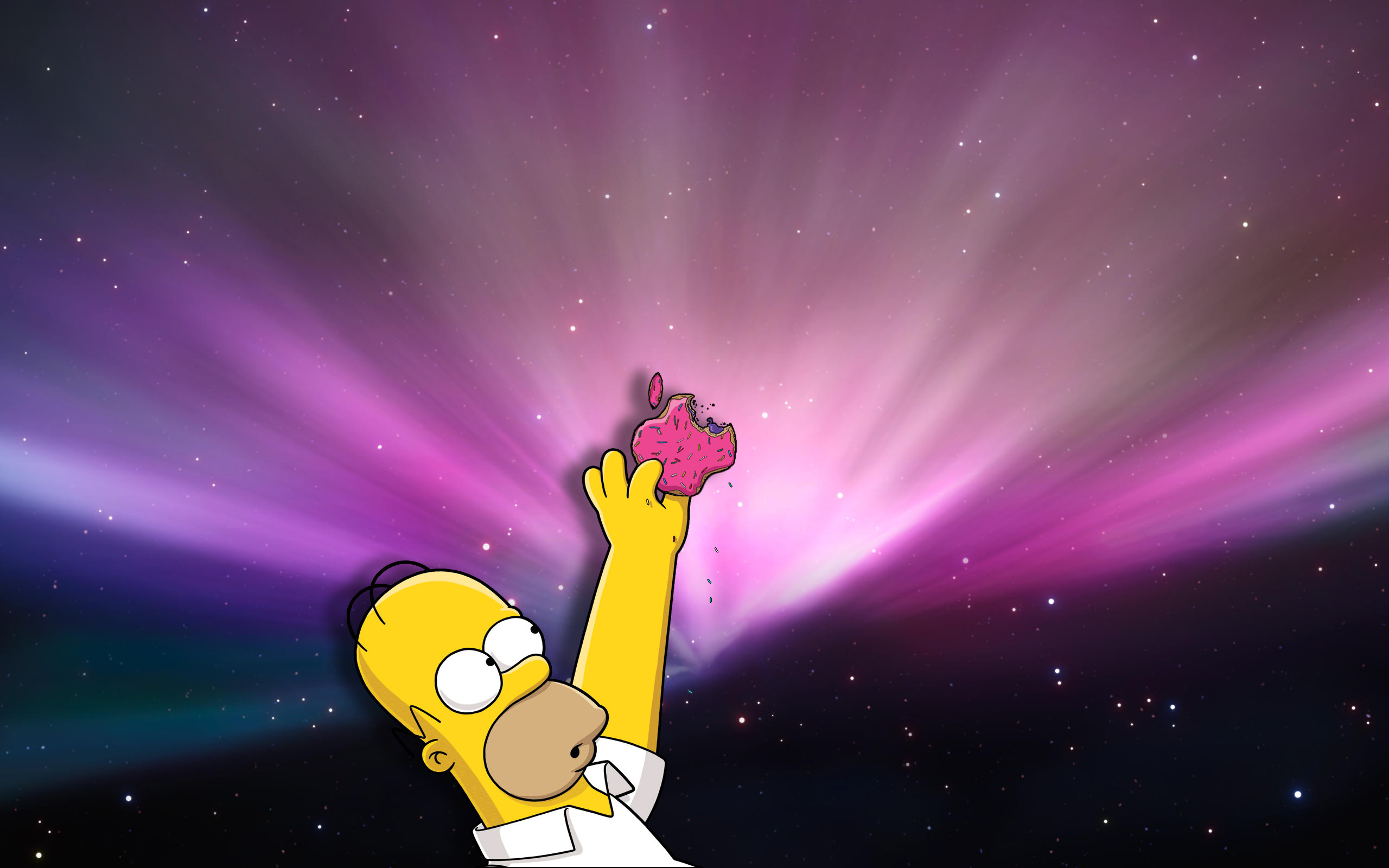 Homer simpson donuts apples HD Wallpaper