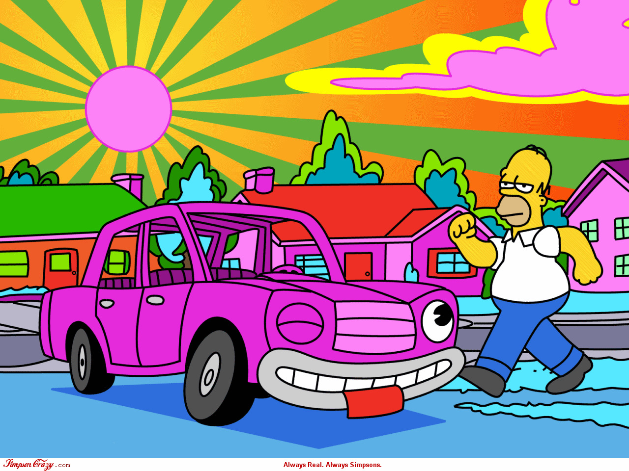 Homer simpson The simpsons HD Wallpaper