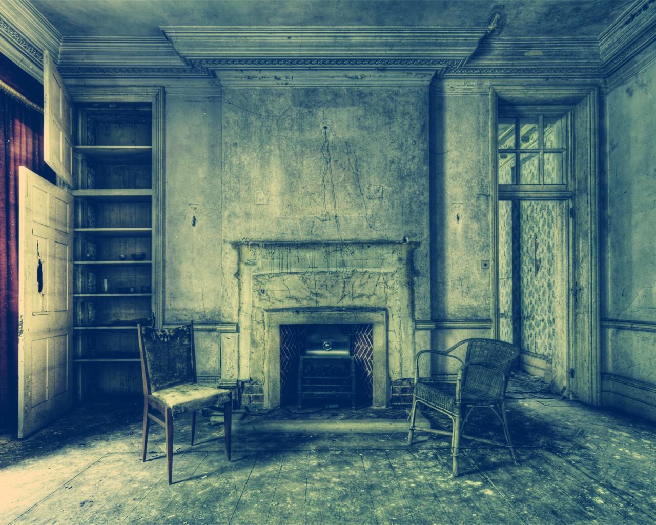 horror decay chairs abandoned HD Wallpaper