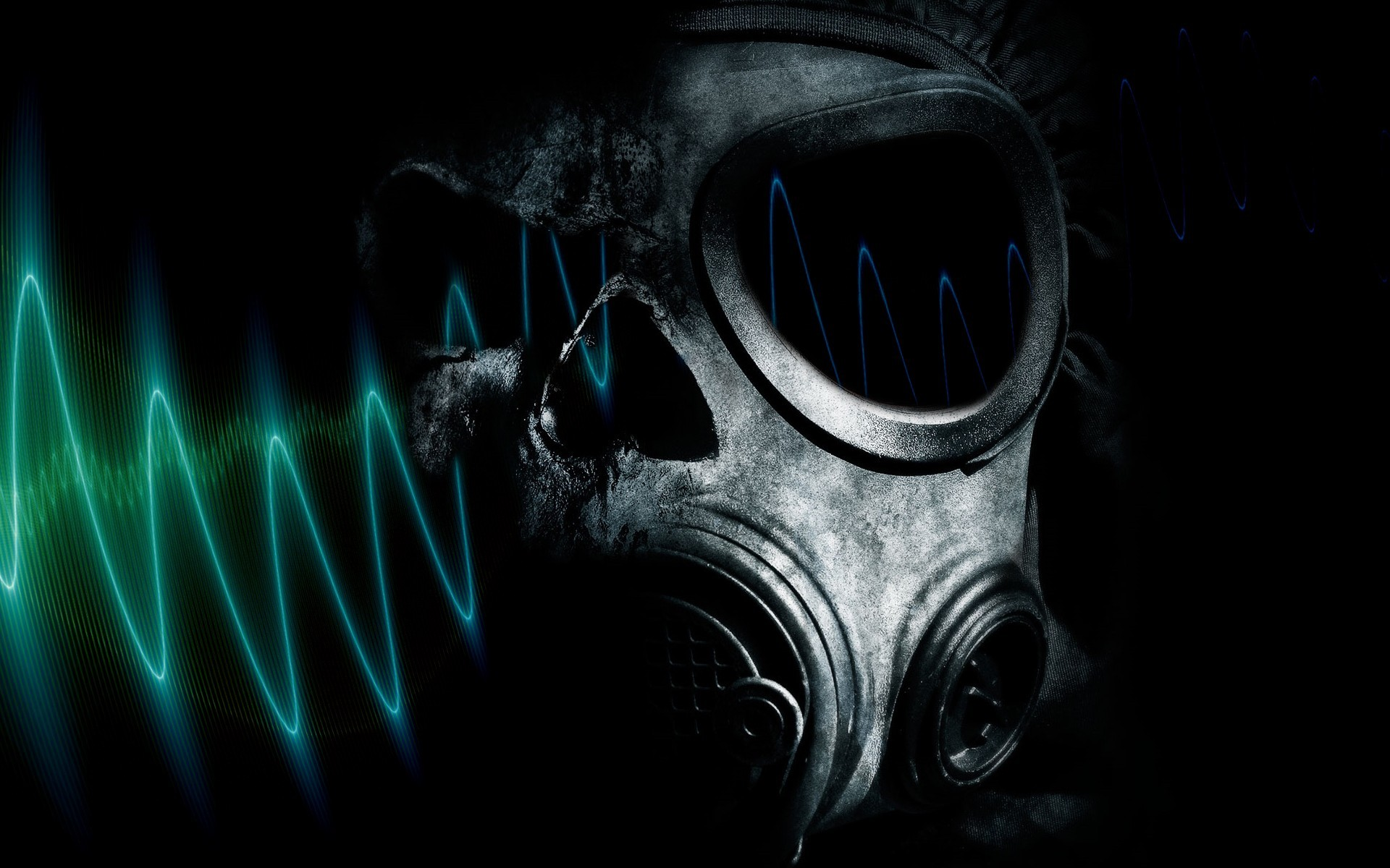 horror gas masks HD Wallpaper