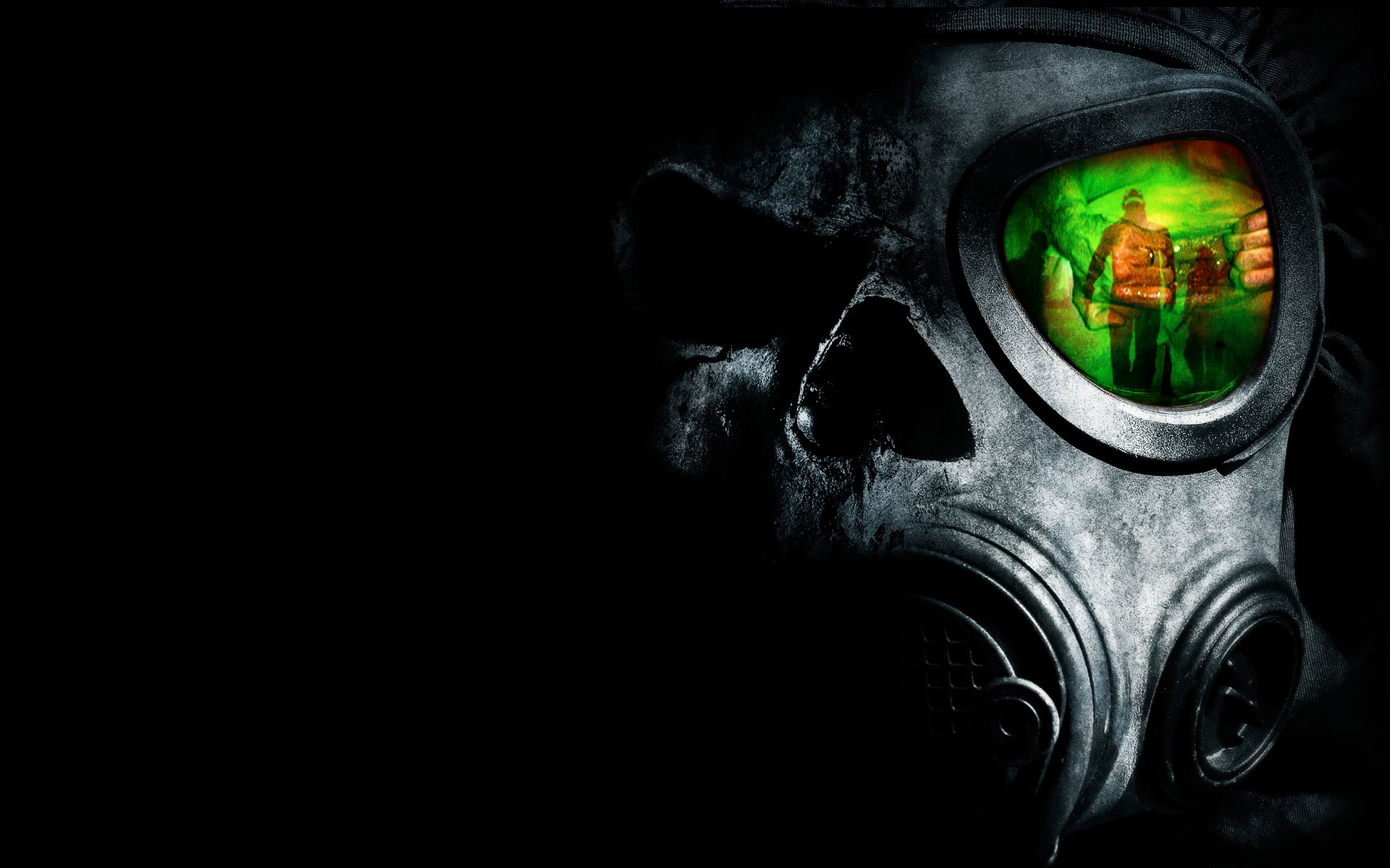 horror skulls hands gas HD Wallpaper