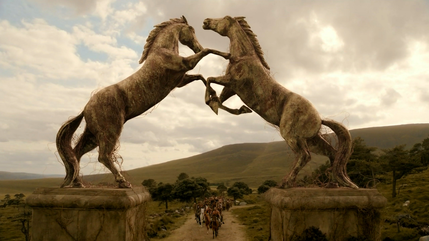Horses statues game of HD Wallpaper