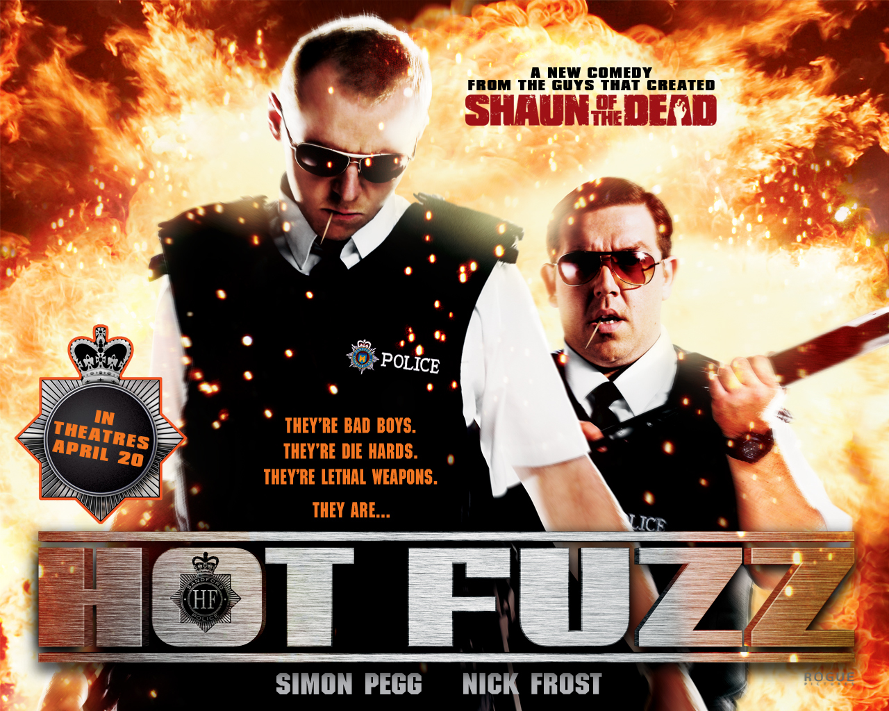 hot-fuzz nick-frost simon-pegg Movie HD Wallpaper