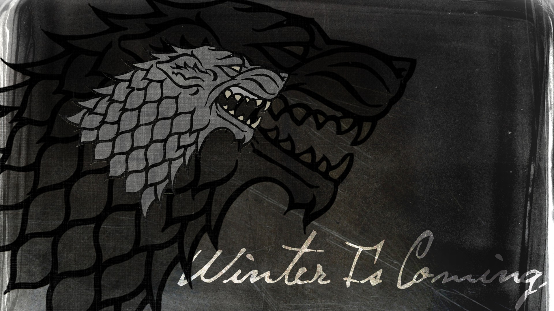 house stark Arms direwolf HD Wallpaper
