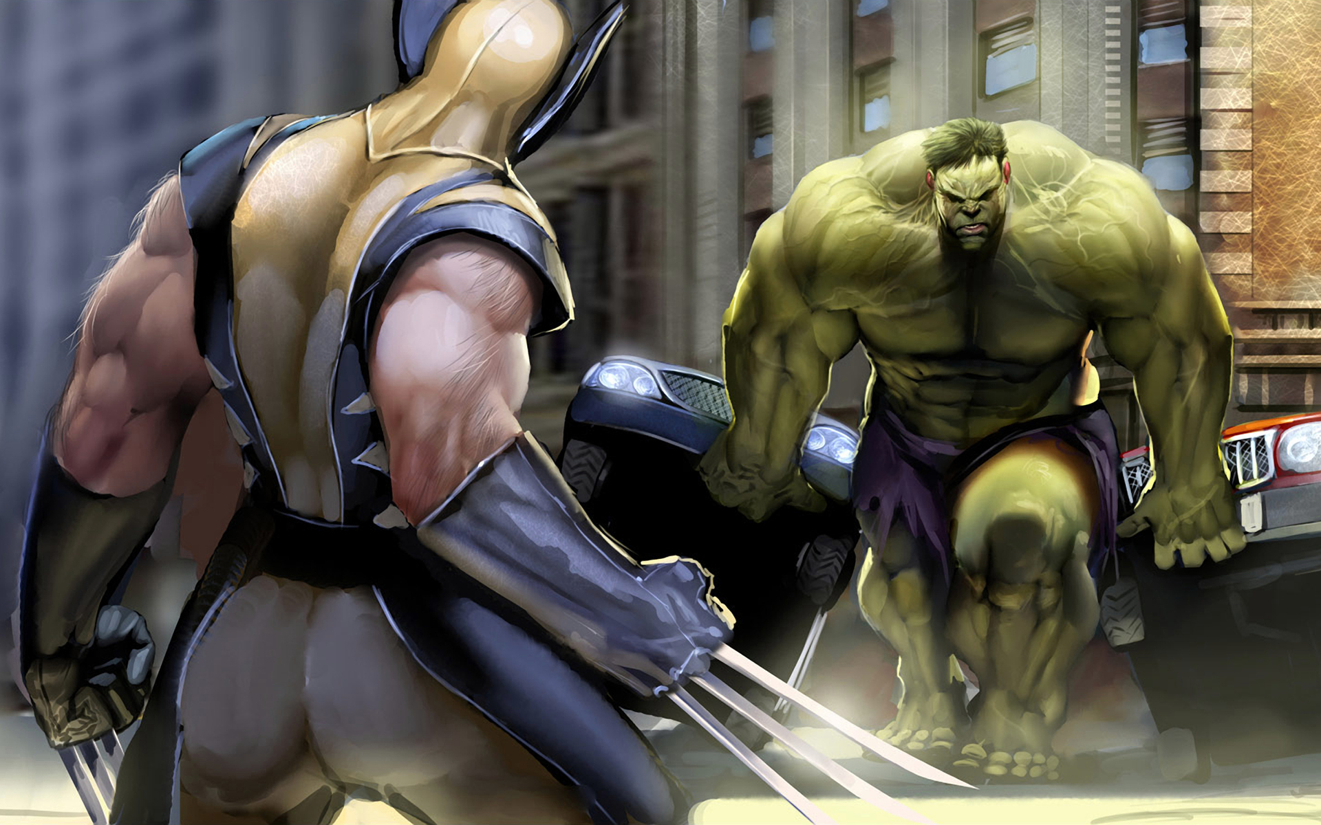 Hulk comic Character wolverine HD Wallpaper