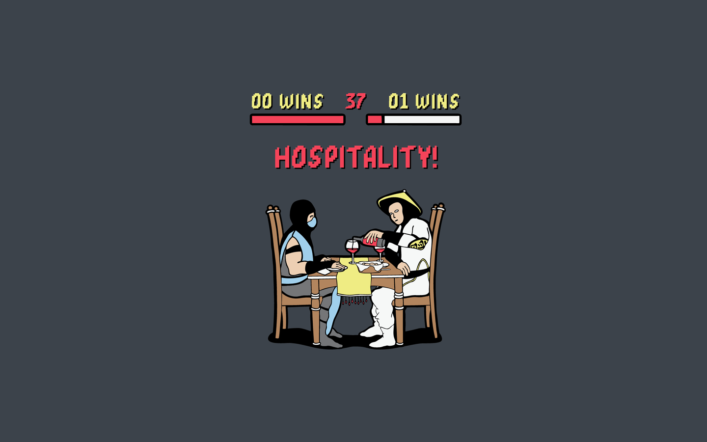 humor mortal kombat artwork HD Wallpaper