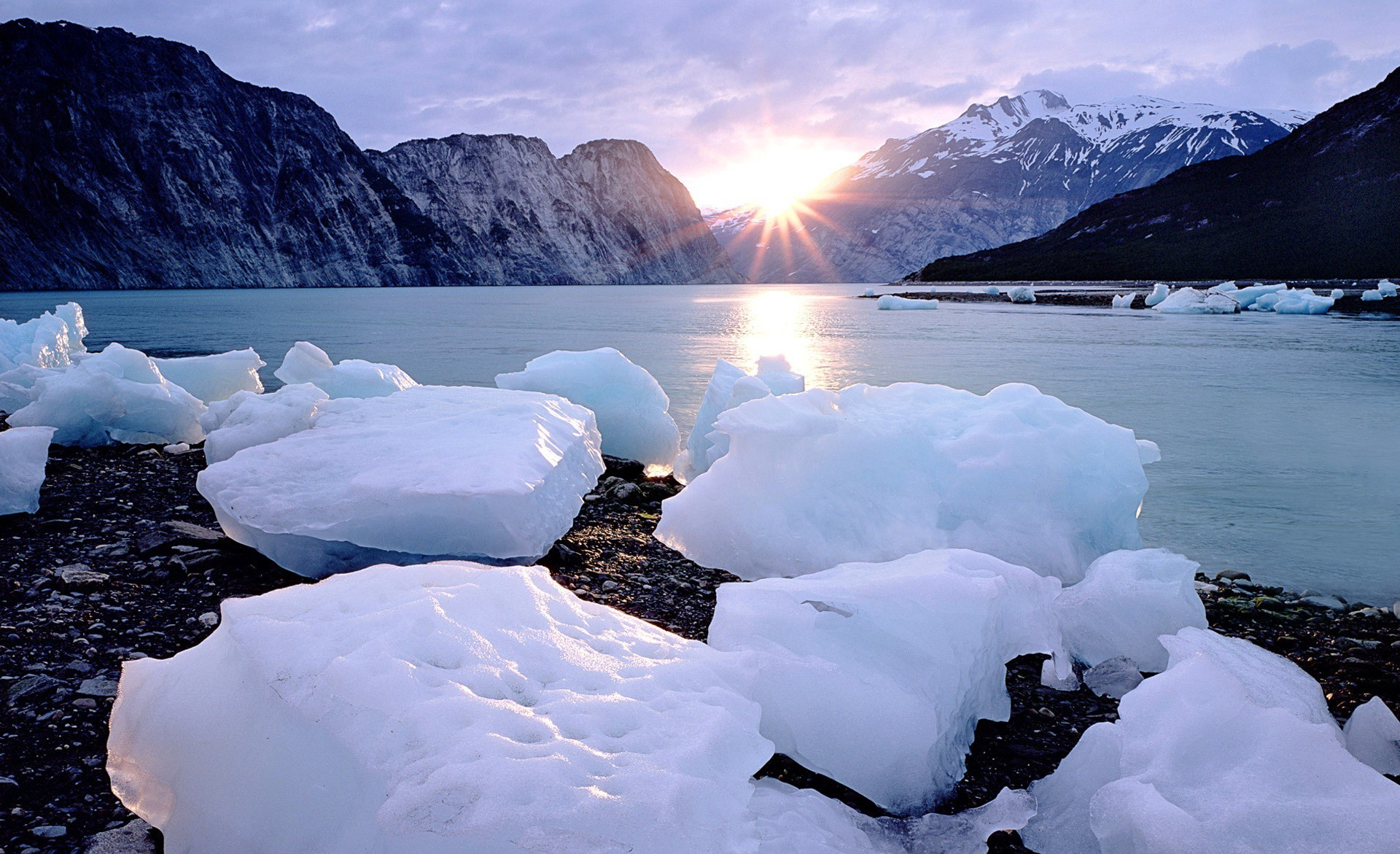 ice Landscapes nature HD Wallpaper