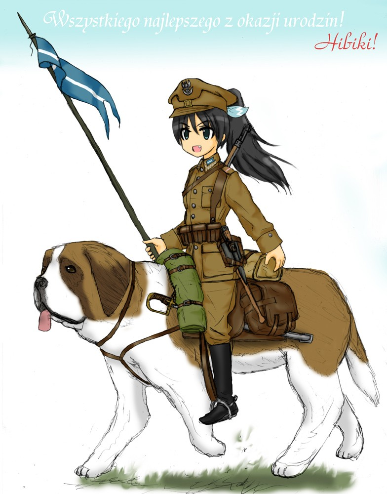 idolmaster Polish brunettes soldiers HD Wallpaper