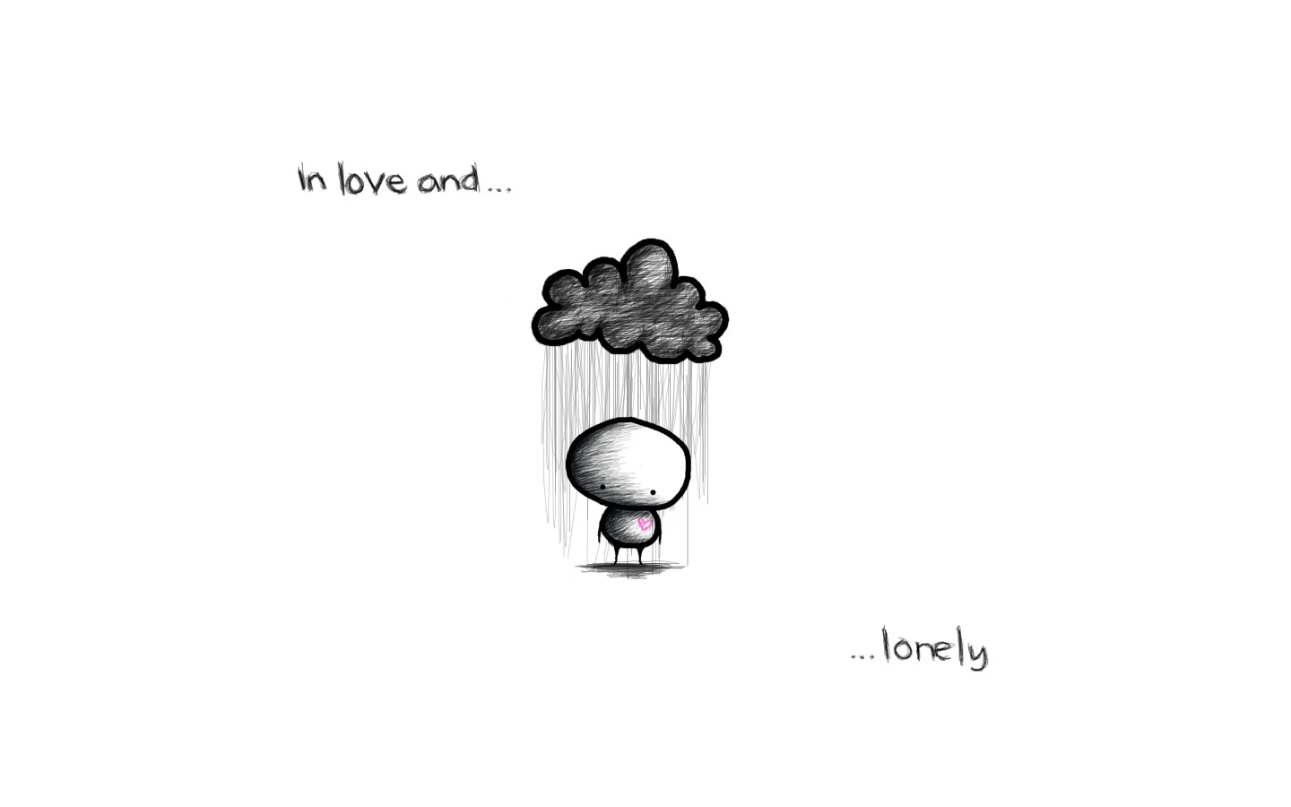 in love and lonely HD Wallpaper