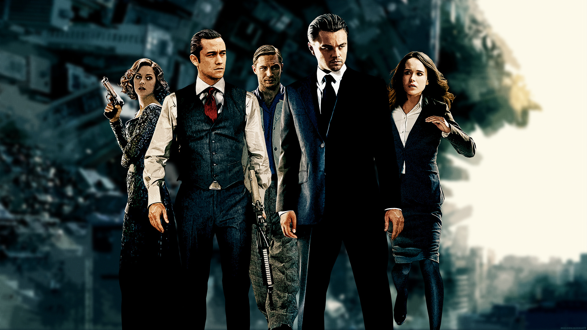 inception marion cotillard Leonardo HD Wallpaper