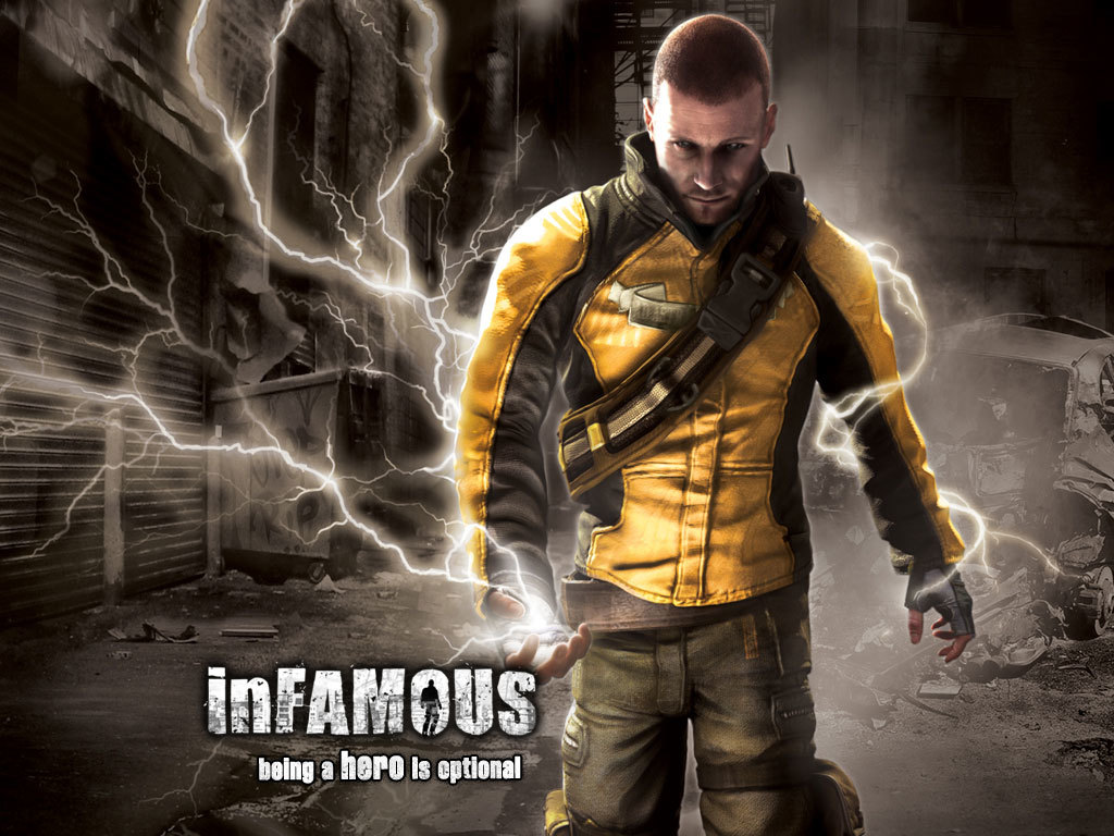 Infamous hero game HD Wallpaper