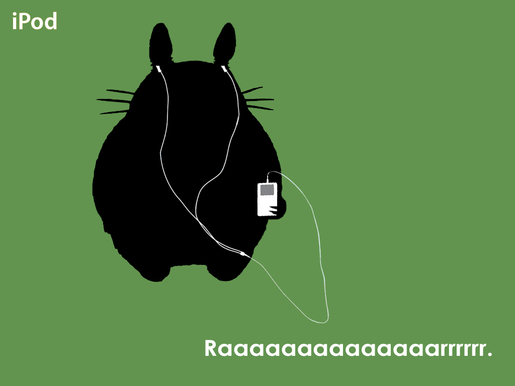 ipod totoro by mangolope HD Wallpaper