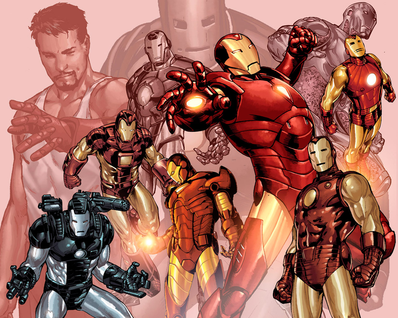 Iron Man comics War HD Wallpaper
