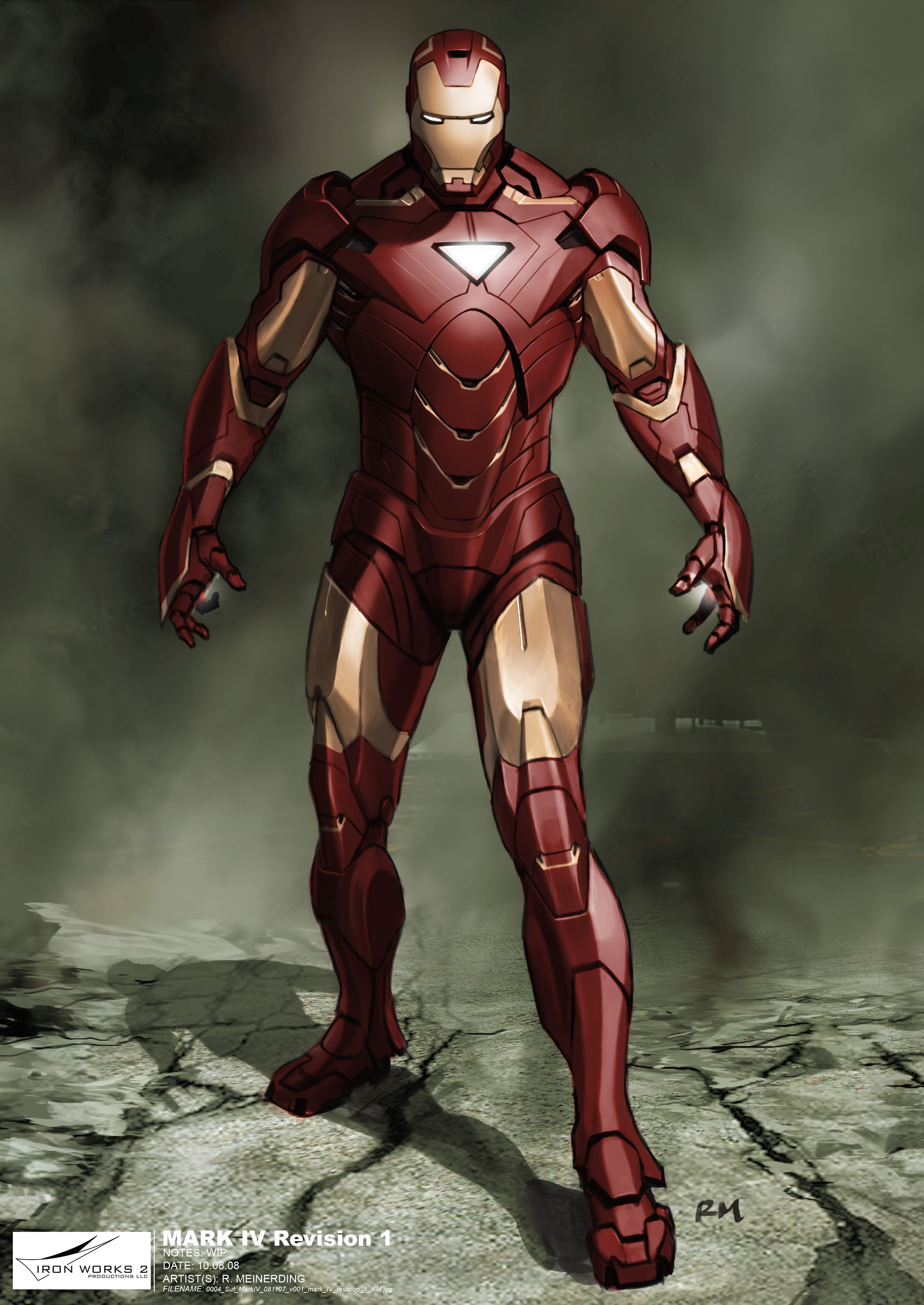 Iron Man concept art HD Wallpaper