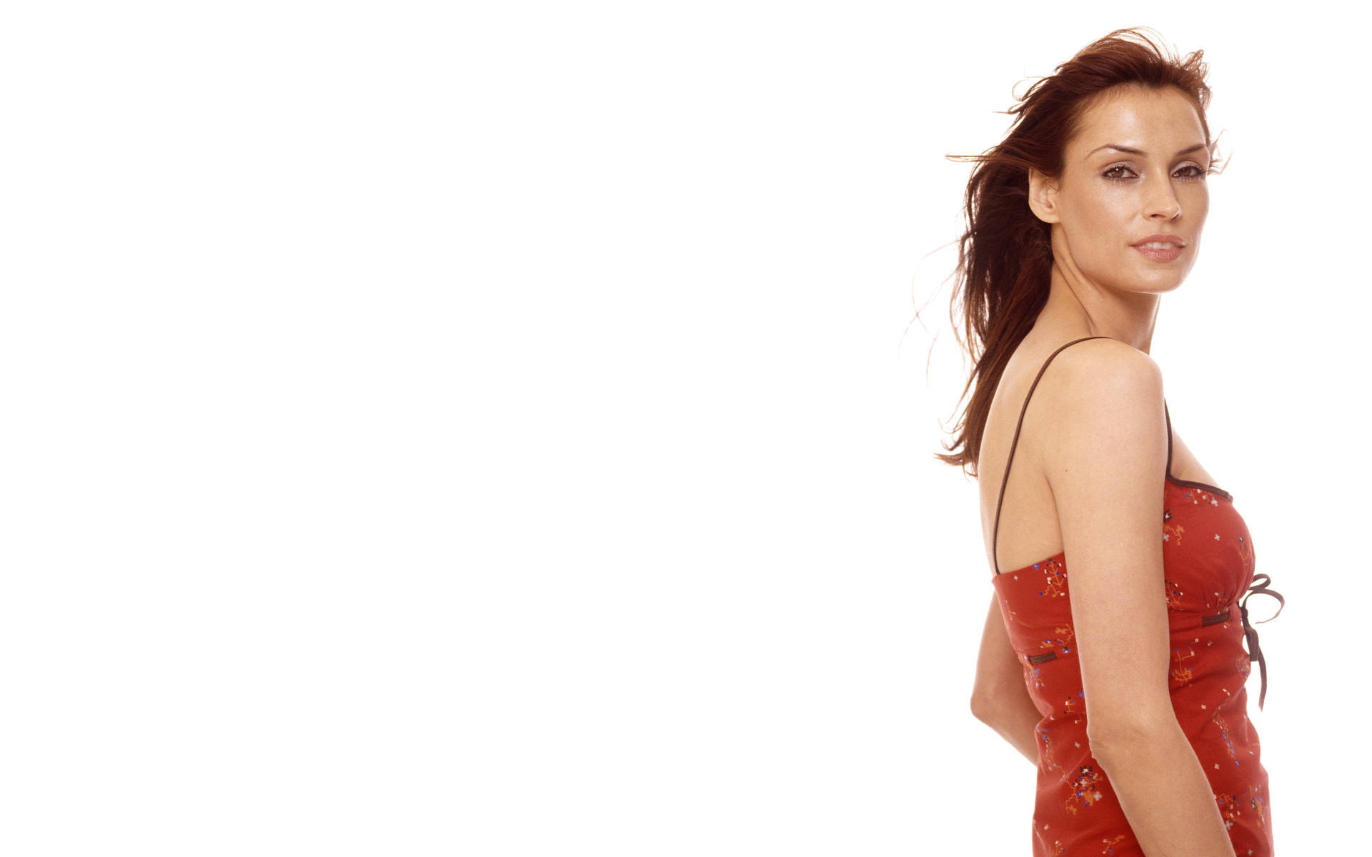 janssen red dress white HD Wallpaper
