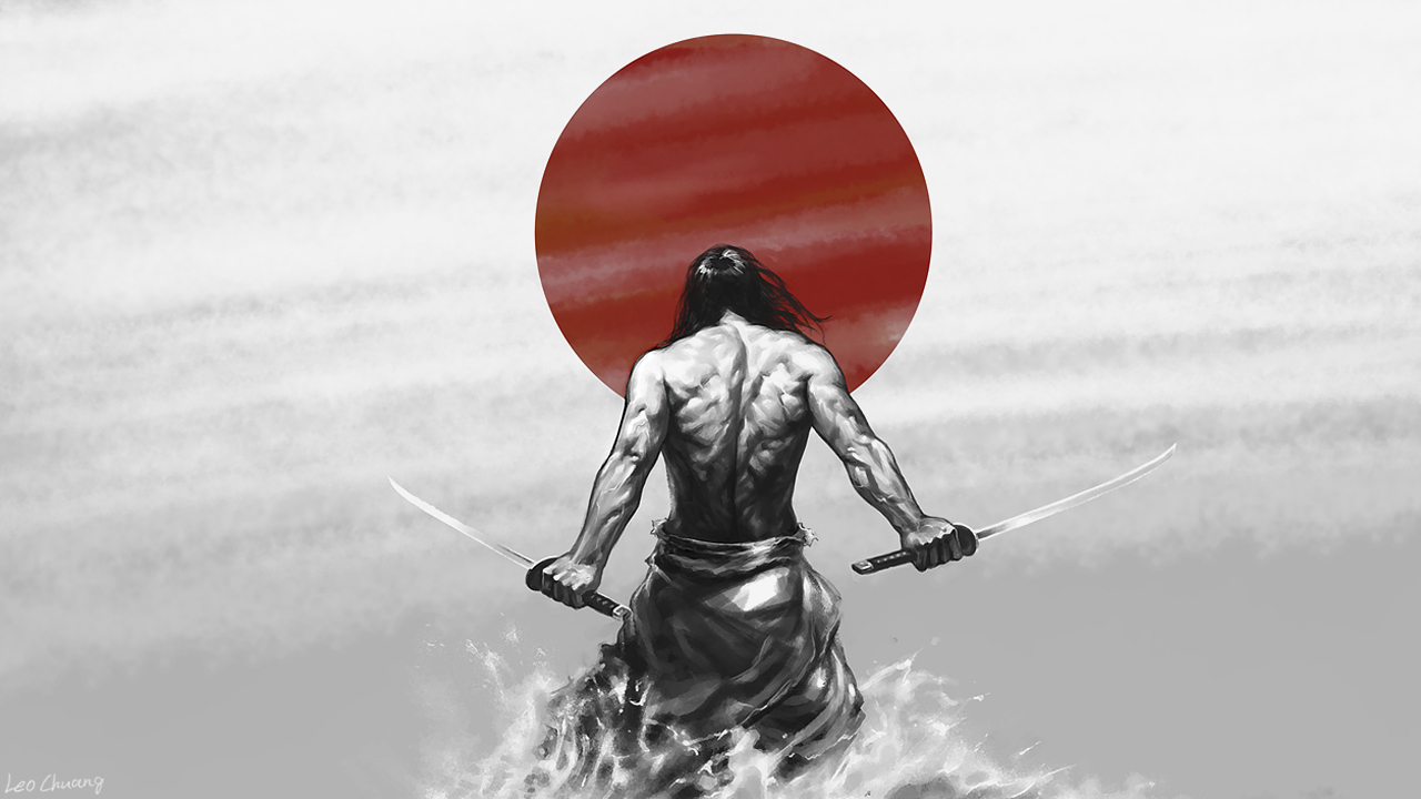 Japan Katana samurai Men HD Wallpaper