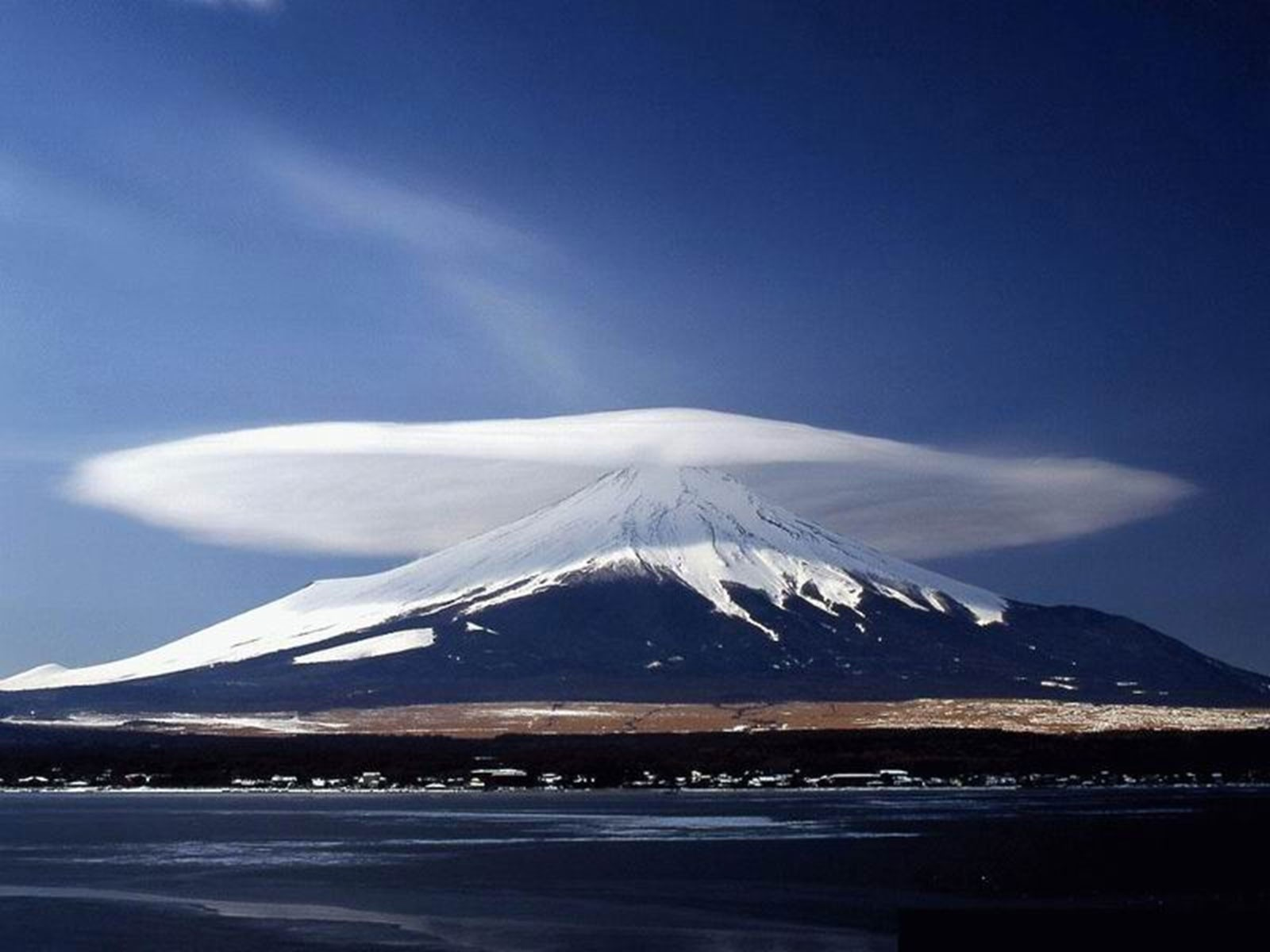 Japan Mountains clouds nature HD Wallpaper