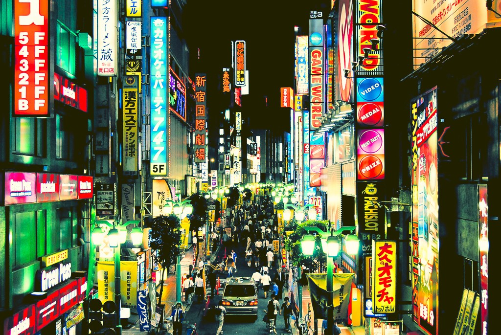 Japan Tokyo cityscapes signs HD Wallpaper