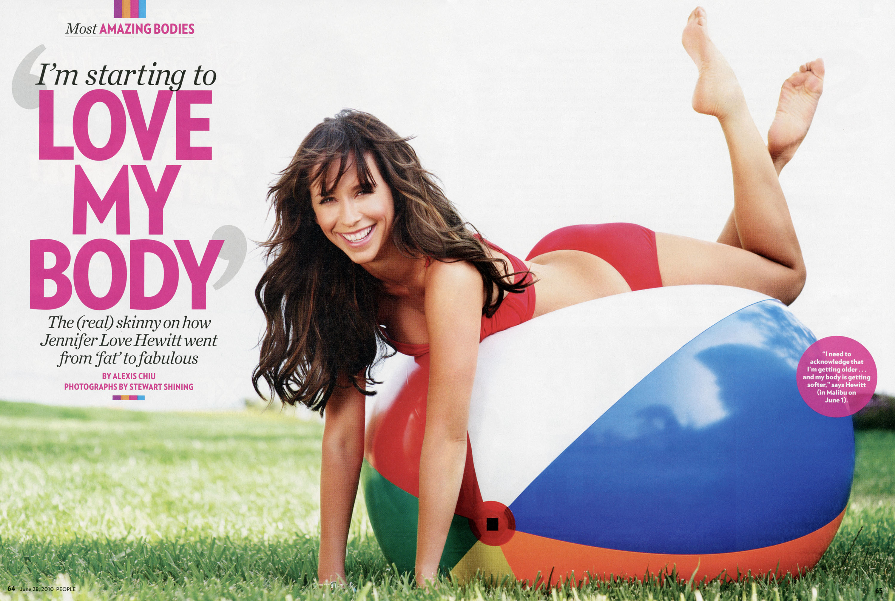 Jennifer love hewitt Magazine HD Wallpaper