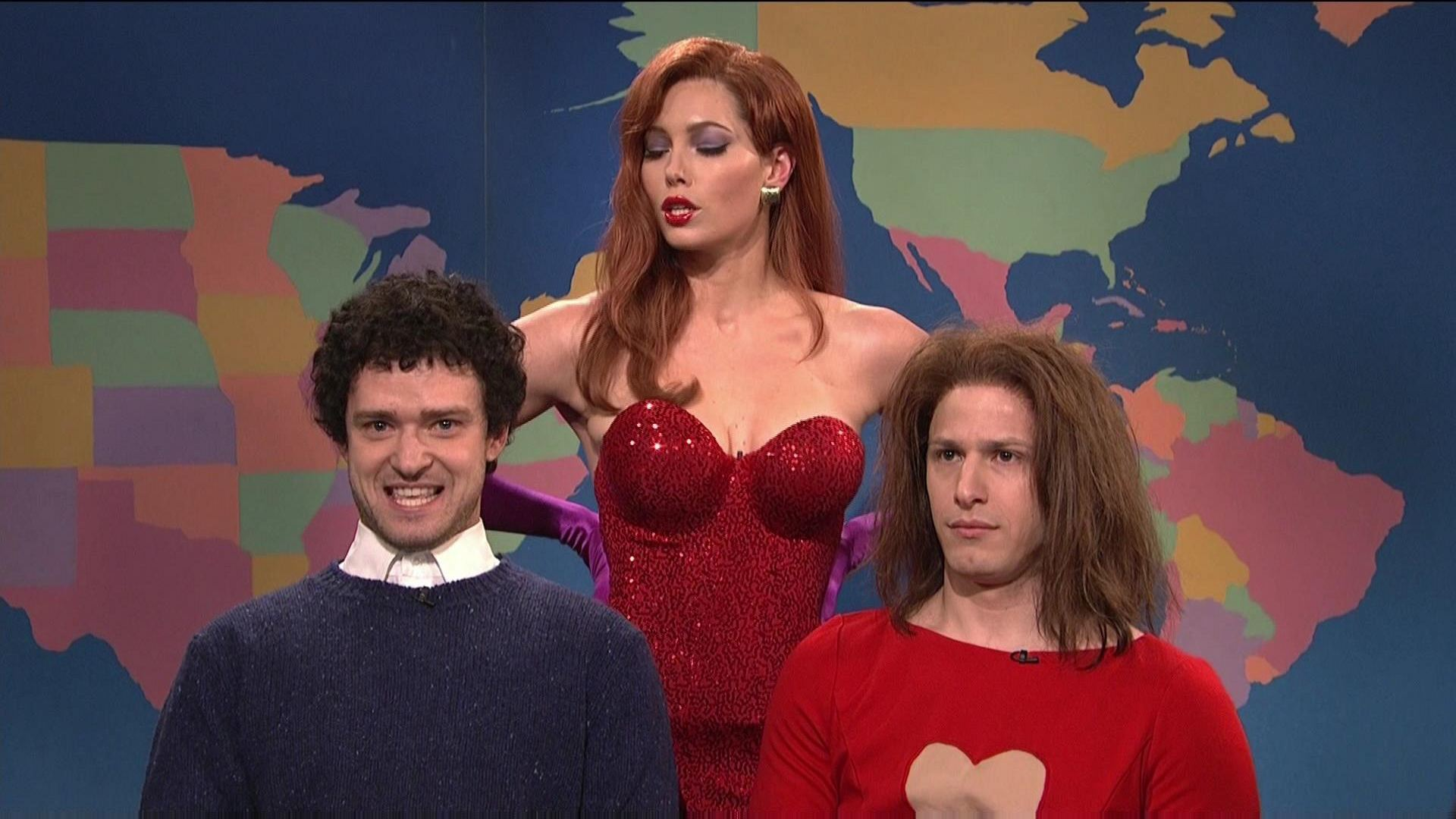 Jessica Biel snl justin HD Wallpaper