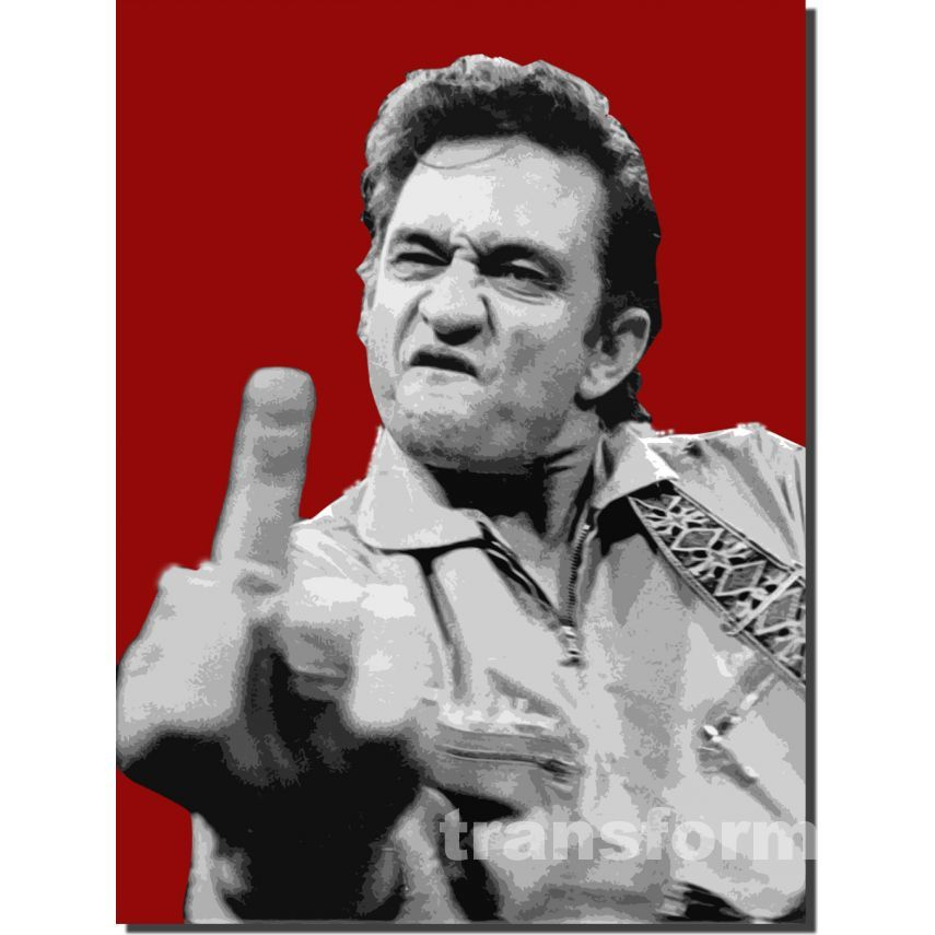 johnny cash canvas Print HD Wallpaper