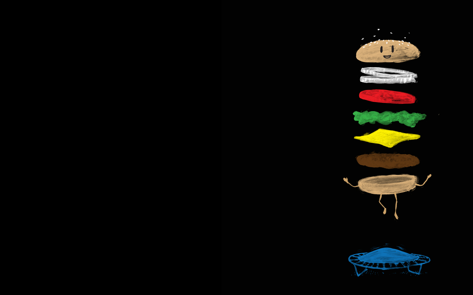 jumping hamburgers Burger xermy HD Wallpaper