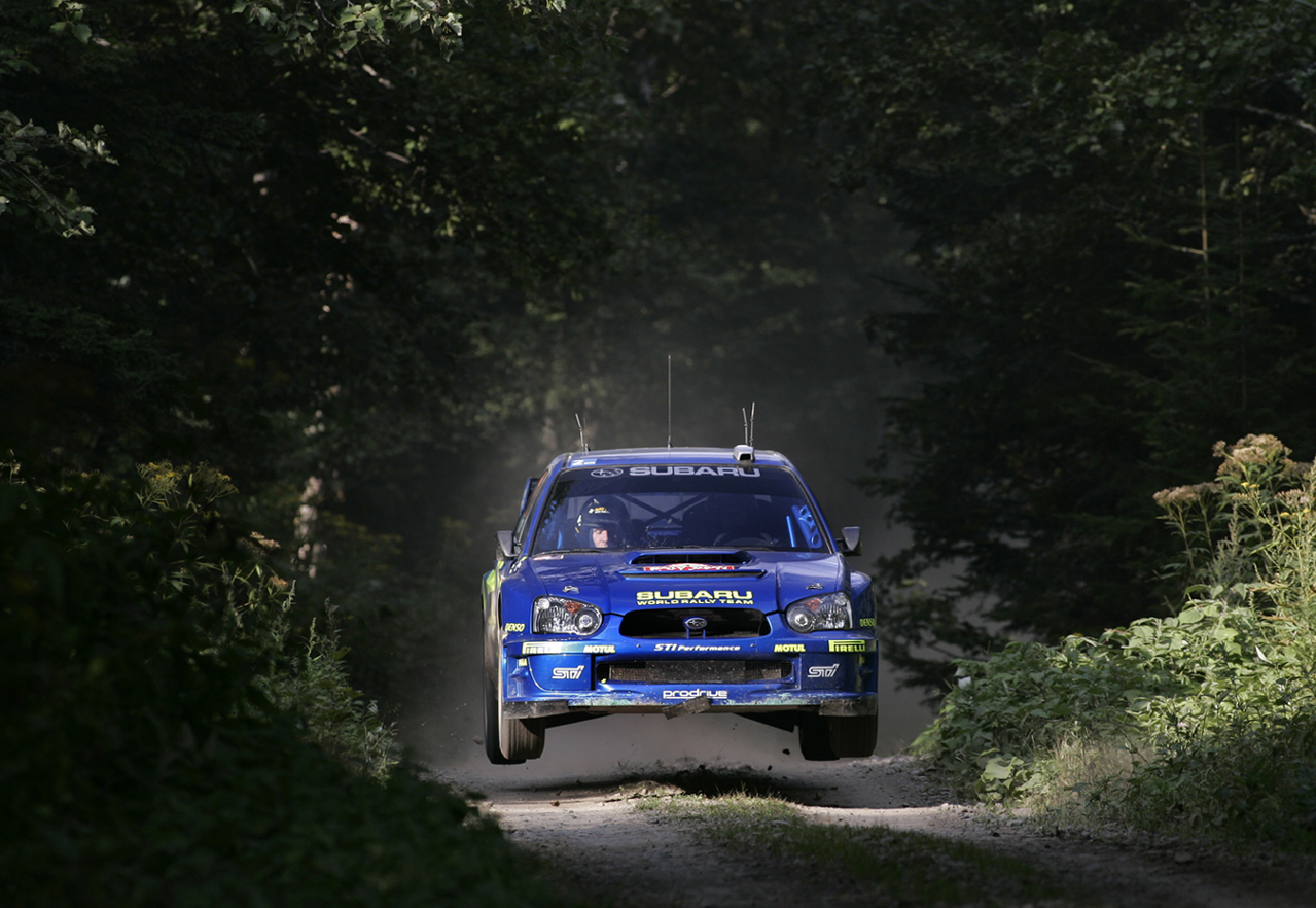 jumping rally Subaru Impreza HD Wallpaper