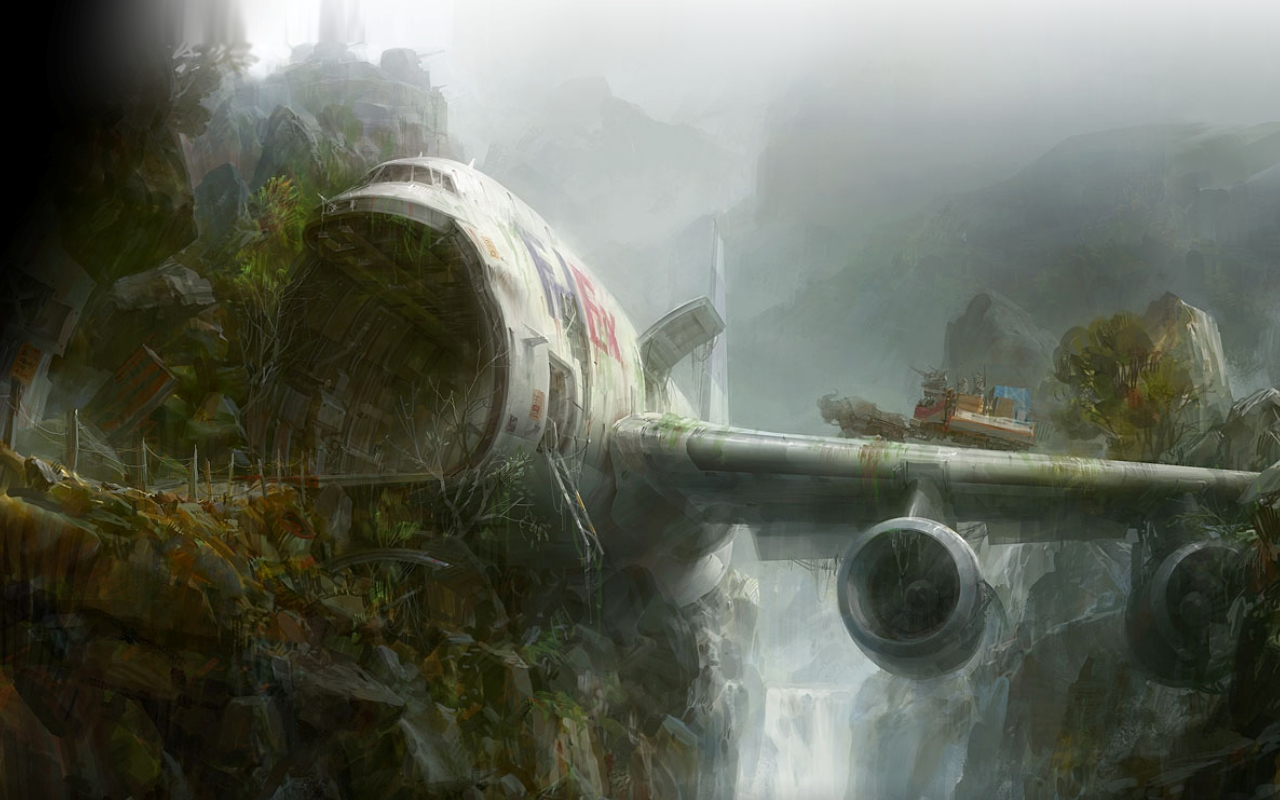 jungle Crash planes plane HD Wallpaper