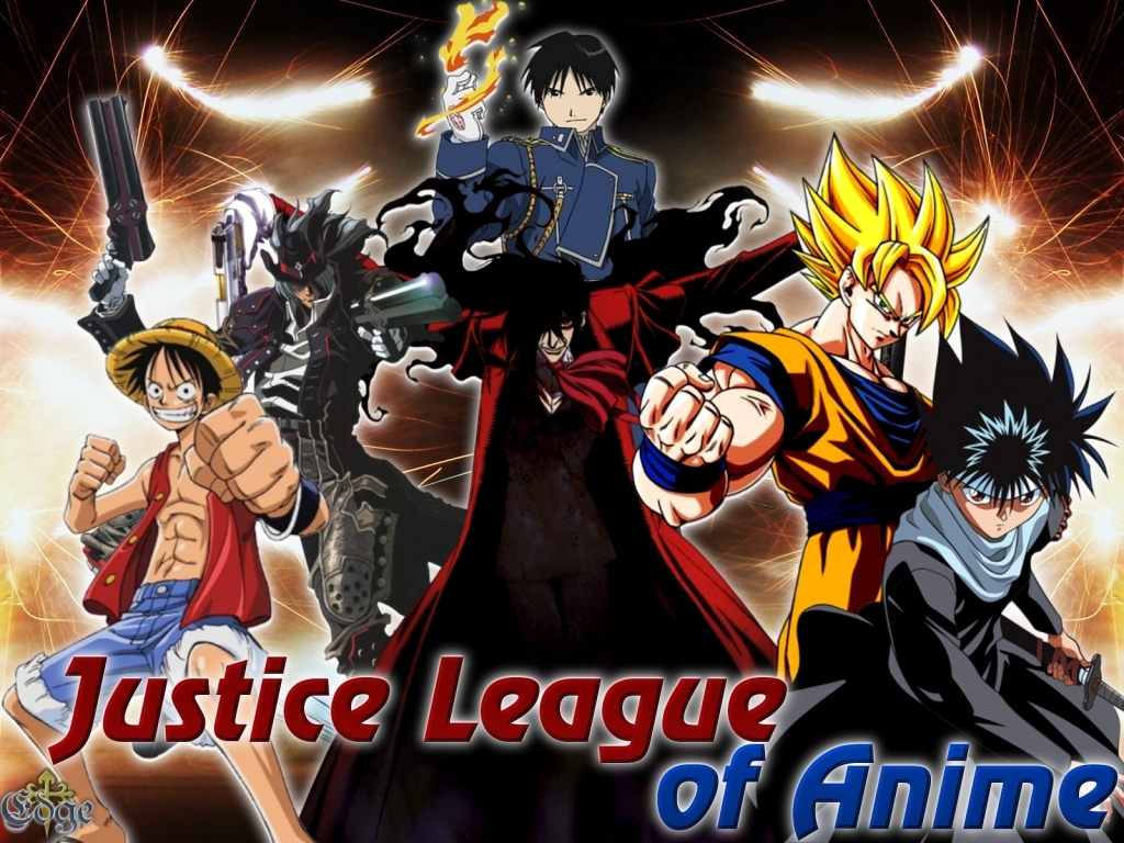 Justice League Anime crossovers HD Wallpaper