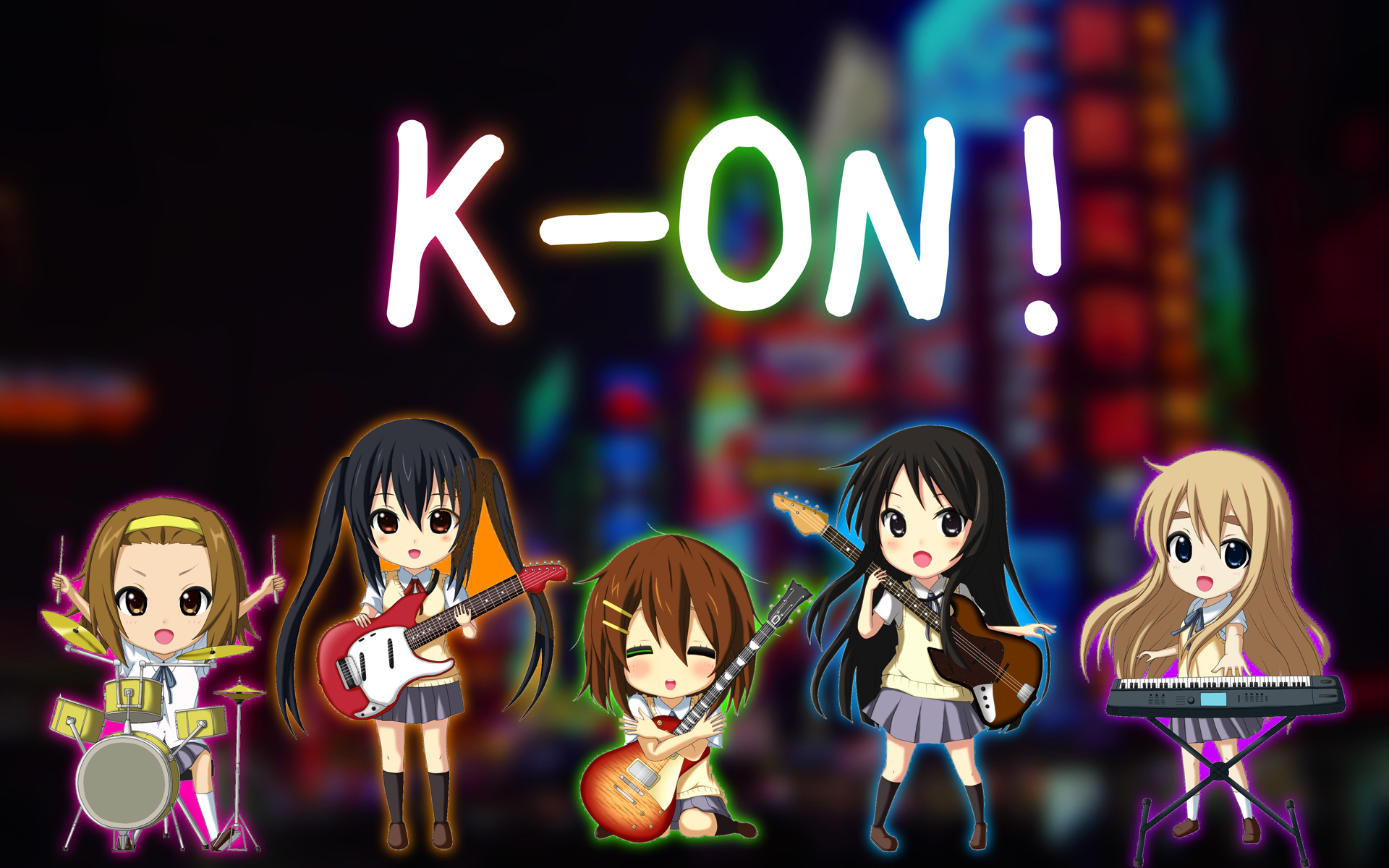 k - on Chibi HD Wallpaper