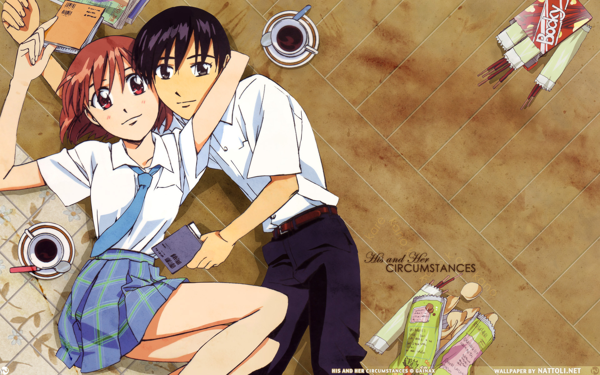 karekano couple Manga Anime HD Wallpaper