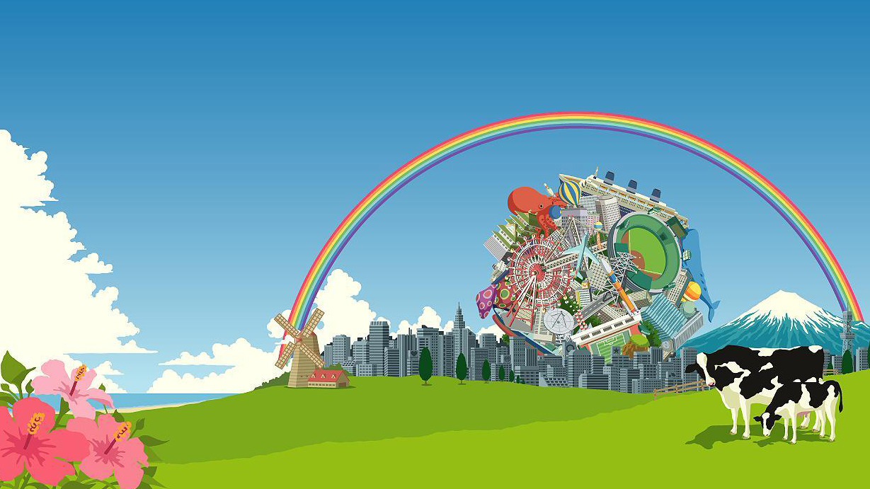 Katamari Damacy video games HD Wallpaper
